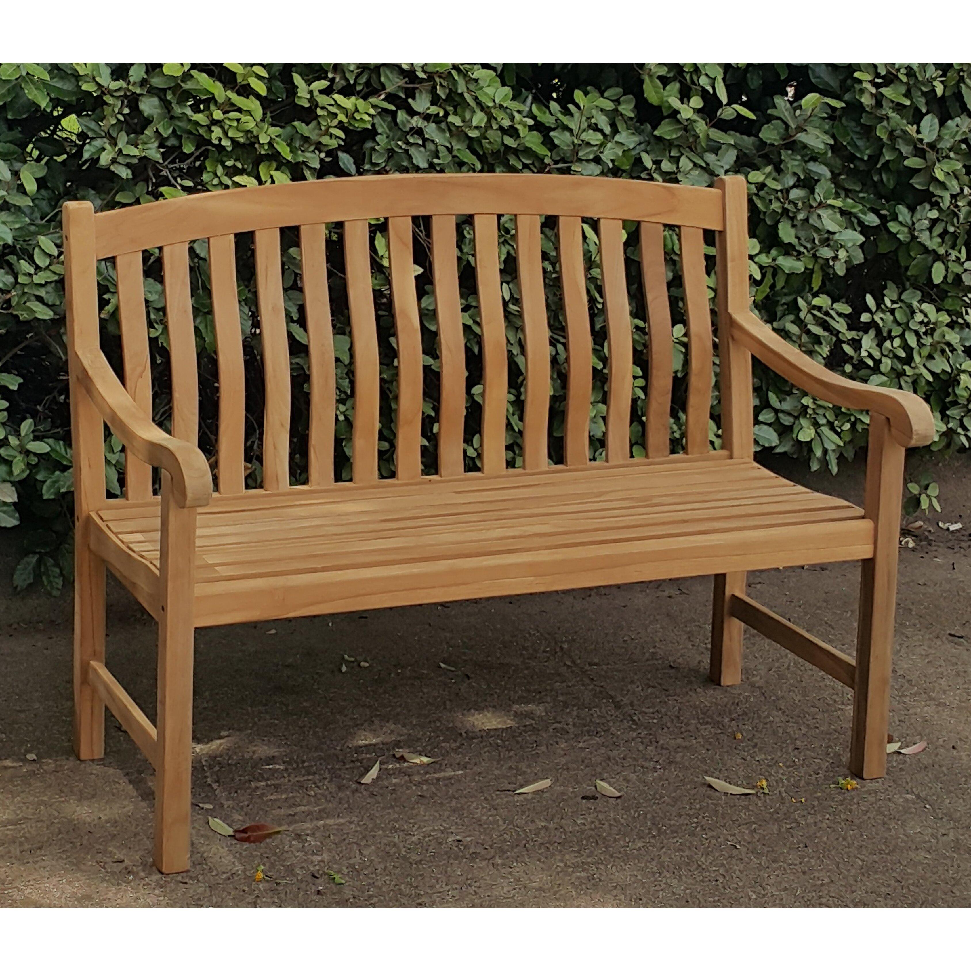 Crestwood Seymour Teak Garden Bench Reviews Wayfair