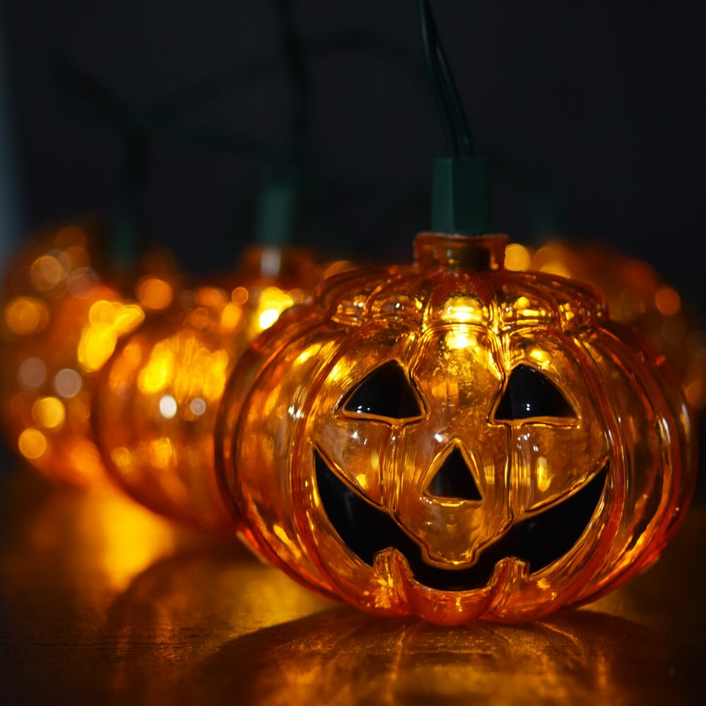 Jack O Lantern Pumpkin String Lights