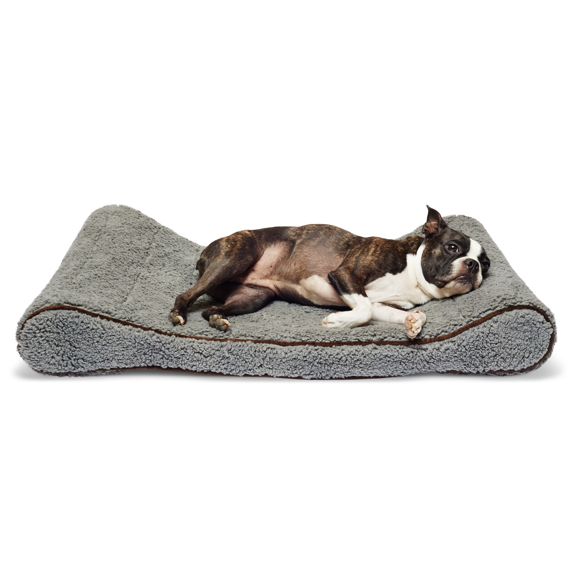 precioustails sherpa top memory foam orthopedic contoured With best orthopedic bolster dog bed