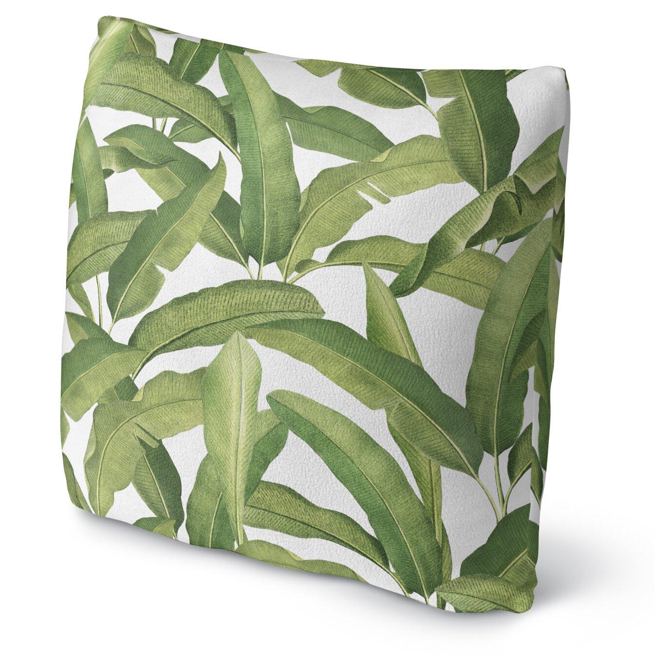 Kavka Banana Leaves Fleece Throw Pillow Wayfair