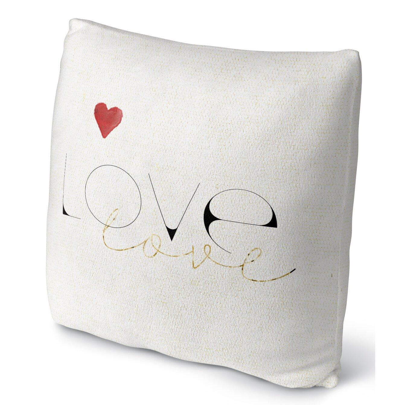 Throw Pillow Love : Kavka Love Love Fleece Throw Pillow & Reviews Wayfair