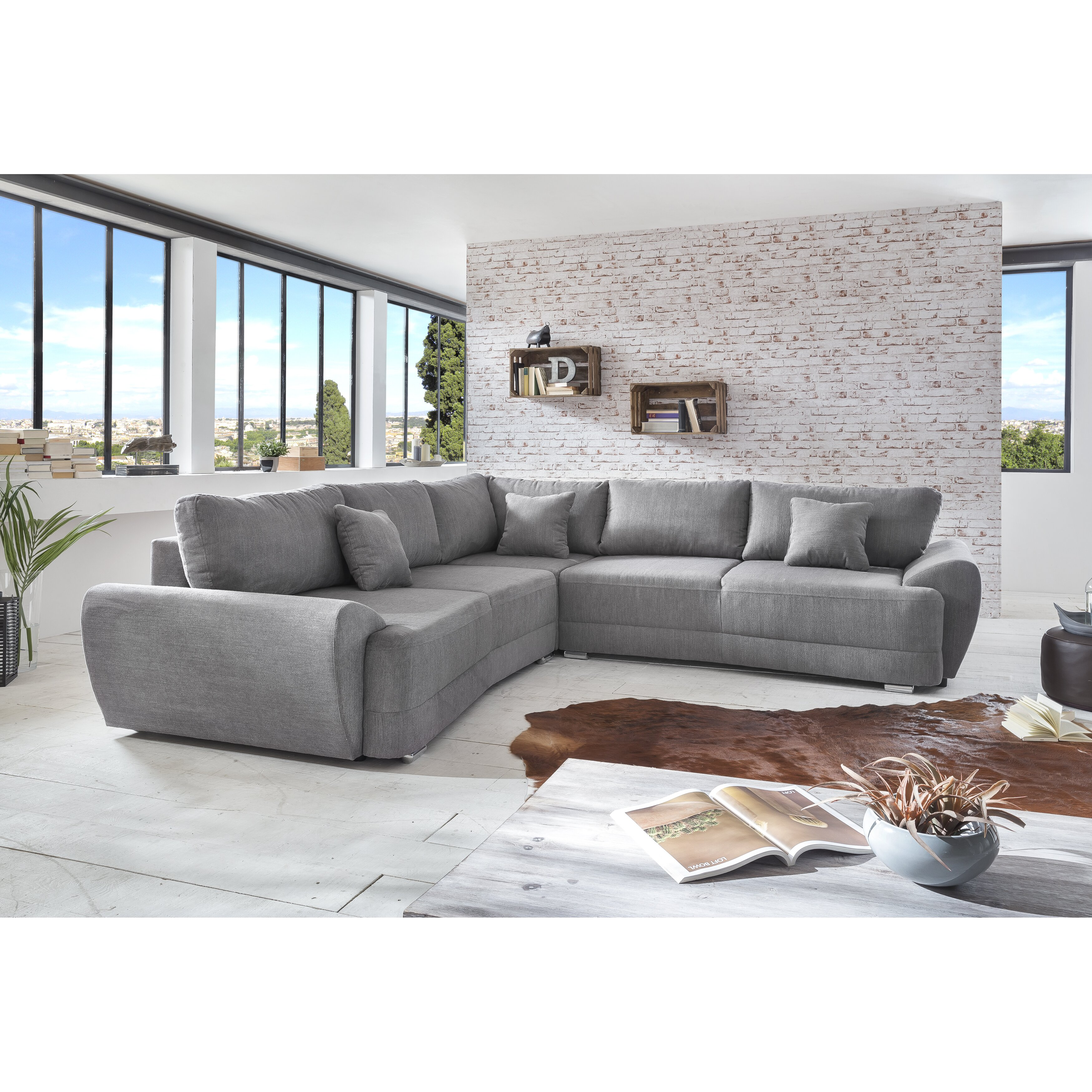 benformato ecksofa basso mit bettfunktion. Black Bedroom Furniture Sets. Home Design Ideas
