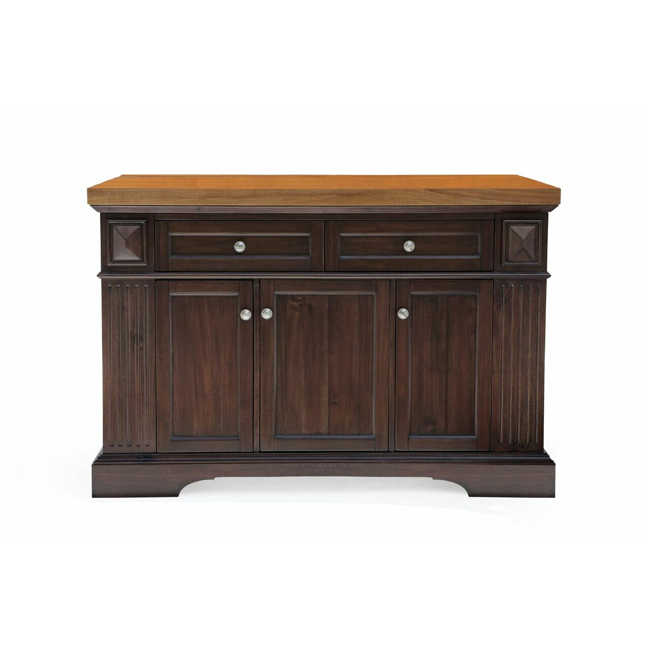 222 Fifth Furniture Greenwich Kitchen Island With Wood Top