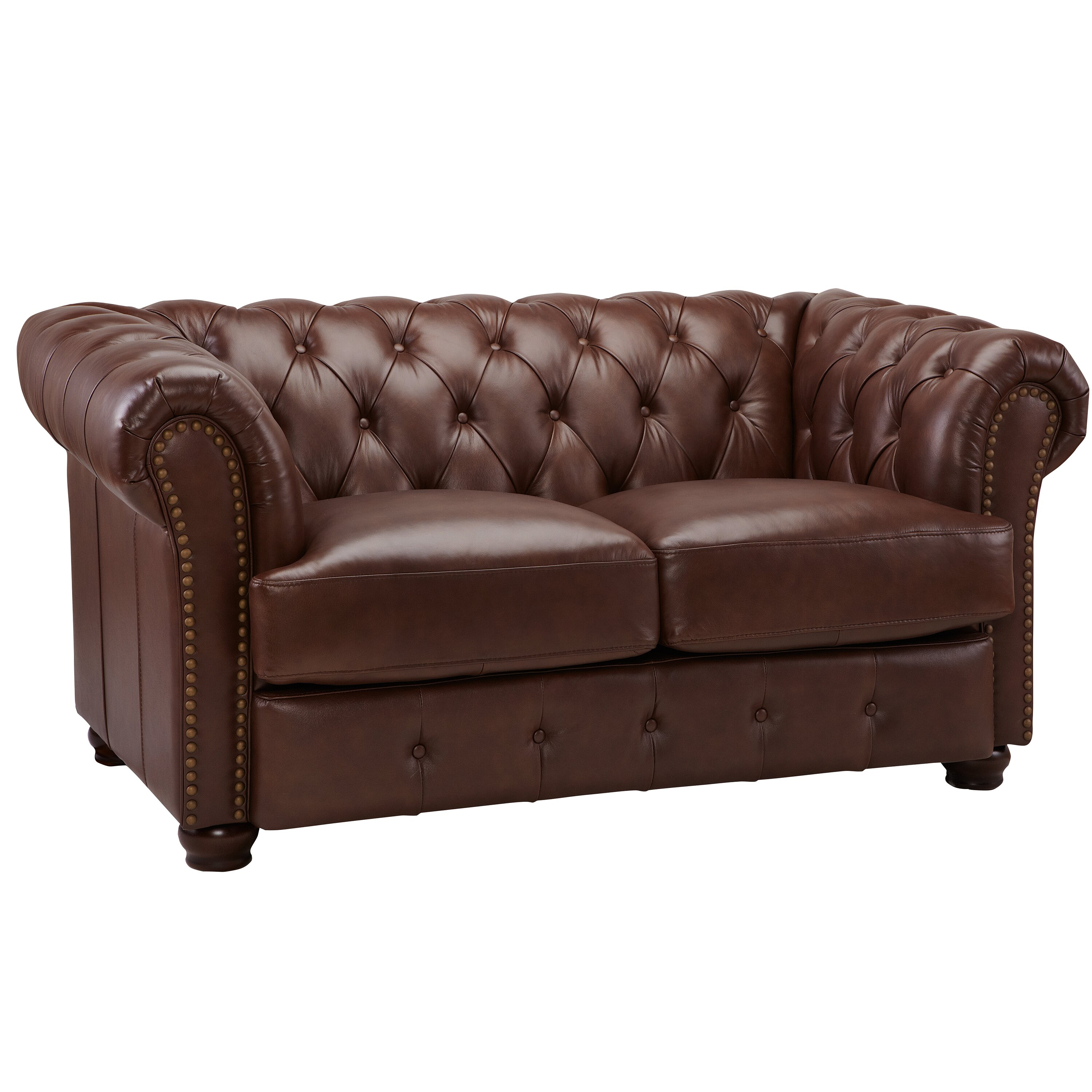 Decoro Decoro Off White Leather Sofa Sofas: DLND DeCoro Barrister Stationary Leather Loveseat