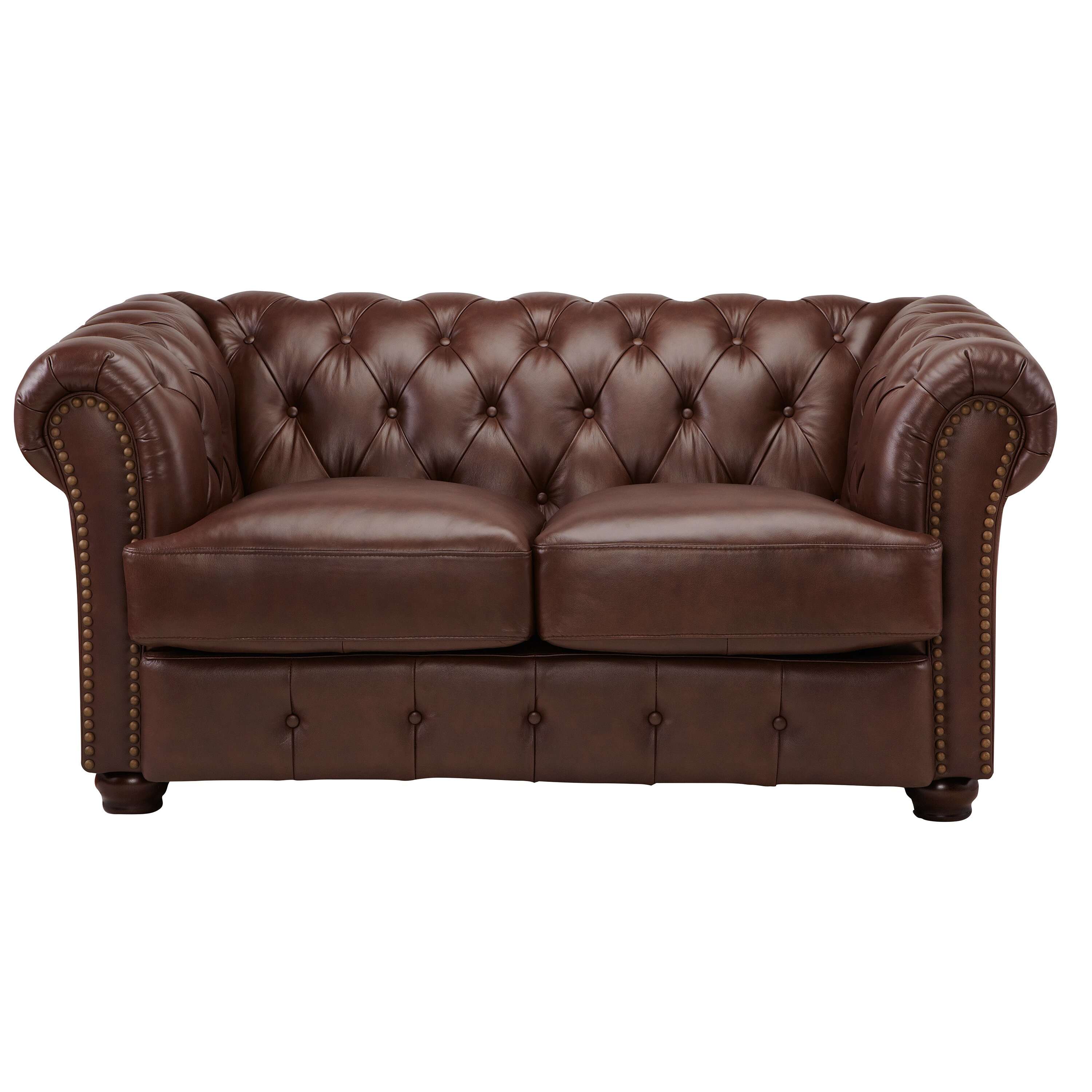 Dlnd Decoro Barrister Stationary Leather Loveseat