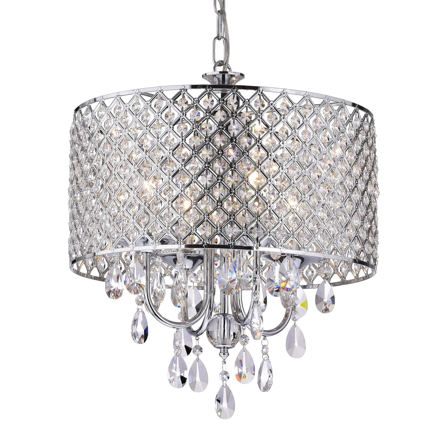 Edvivi marya 4 light drum chandelier wayfair - Ceiling lights and chandeliers ...