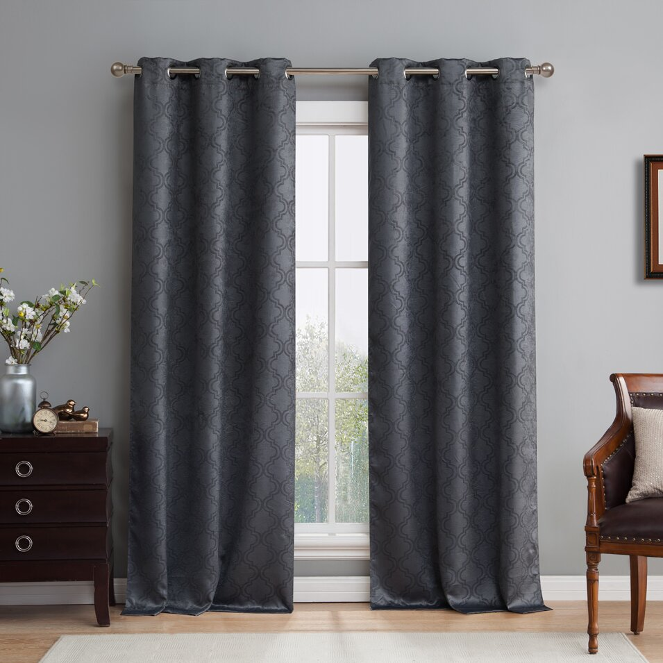 HLC.ME Lattice Blackout Thermal Curtain Panels & Reviews