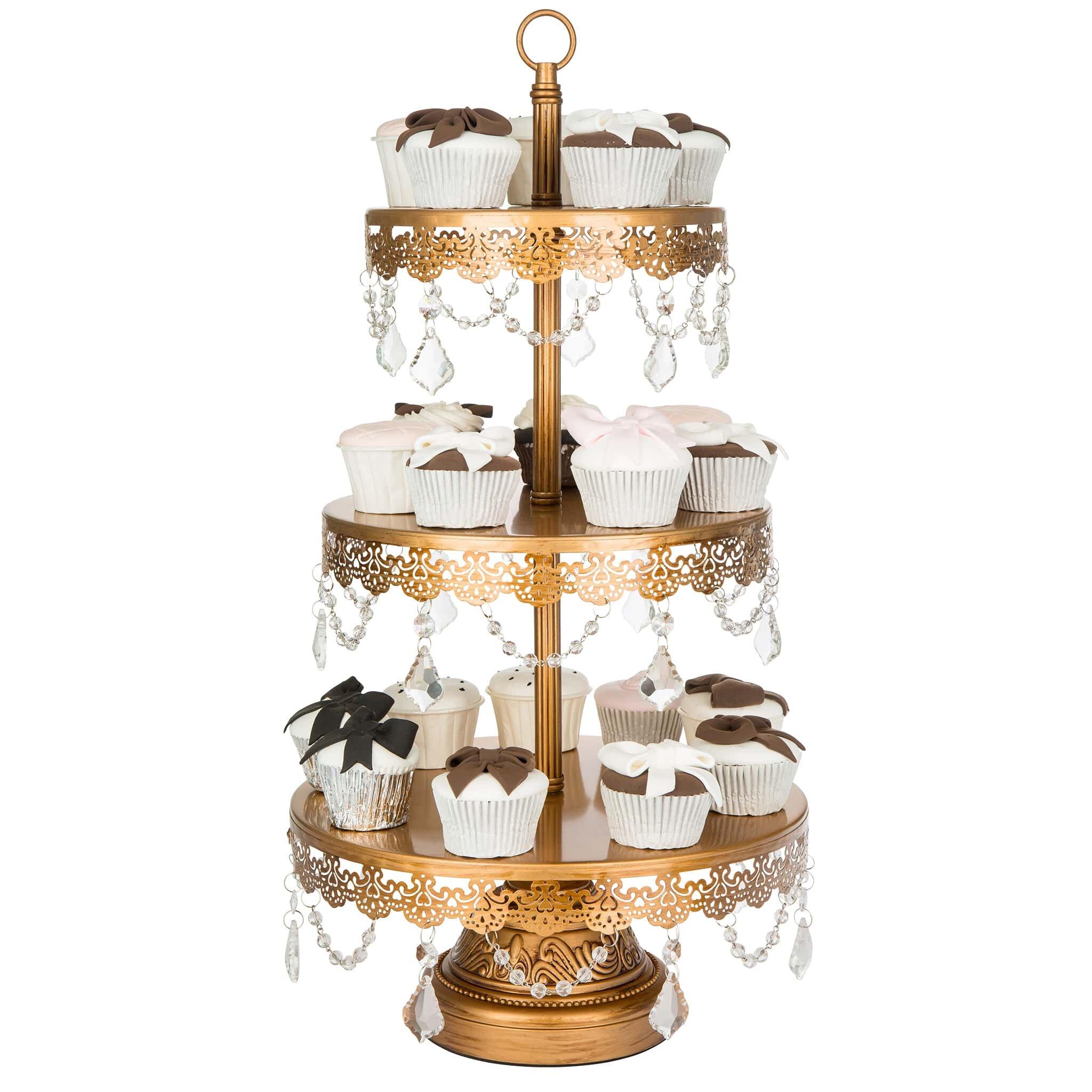 AmalfiDecor Sophia 3 Tier Metal Cupcake Stand & Reviews