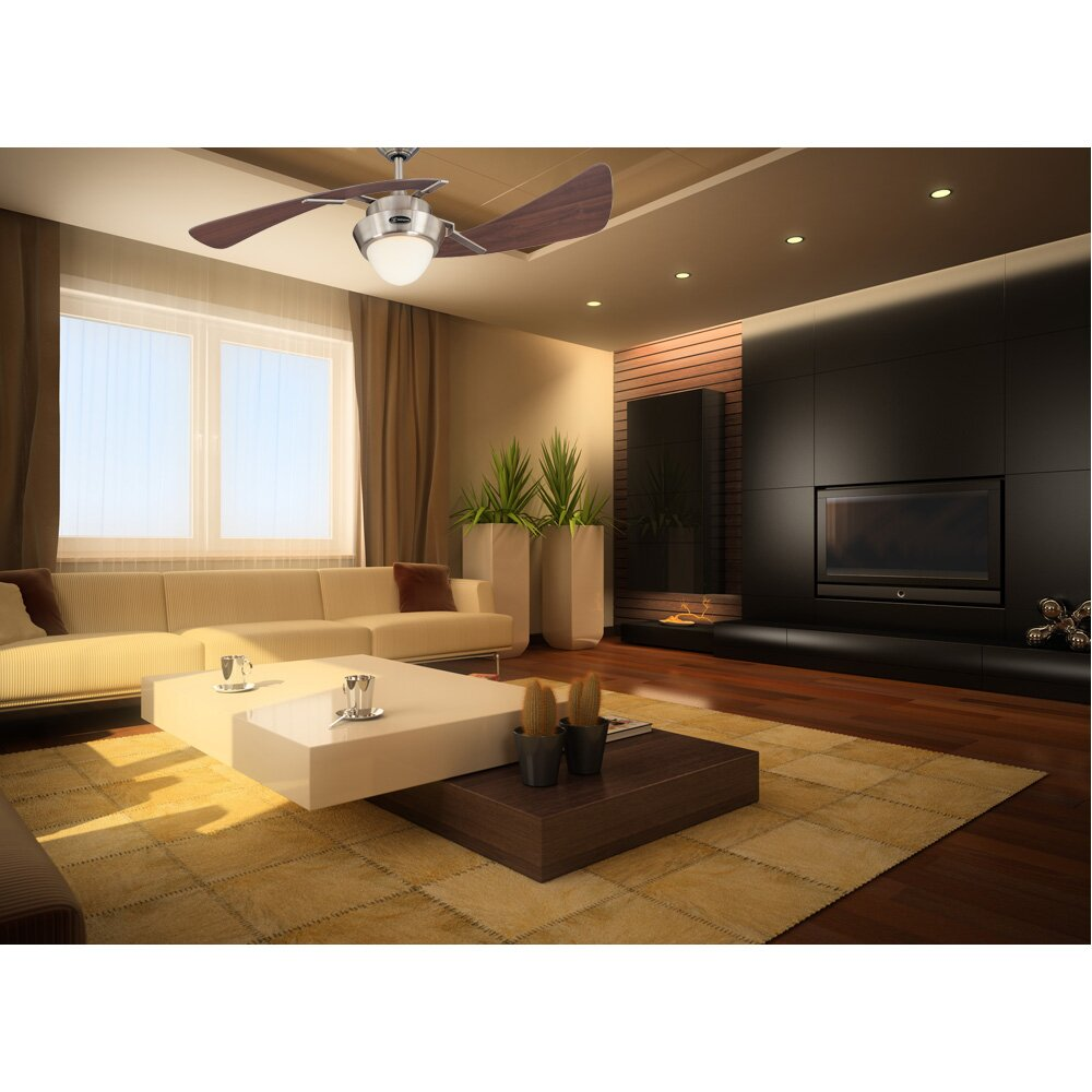 Westinghouse lighting 48 harmony 2 blade ceiling fan reviews wayfair - Westinghouse and living ...
