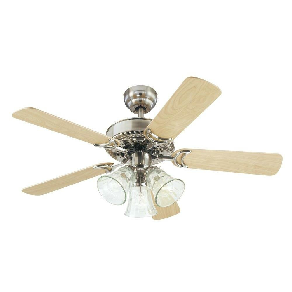 """Ceiling Fan 42 High Quality With Light: Westinghouse Lighting 42"""" Newtown 5 Reversible Blade"""
