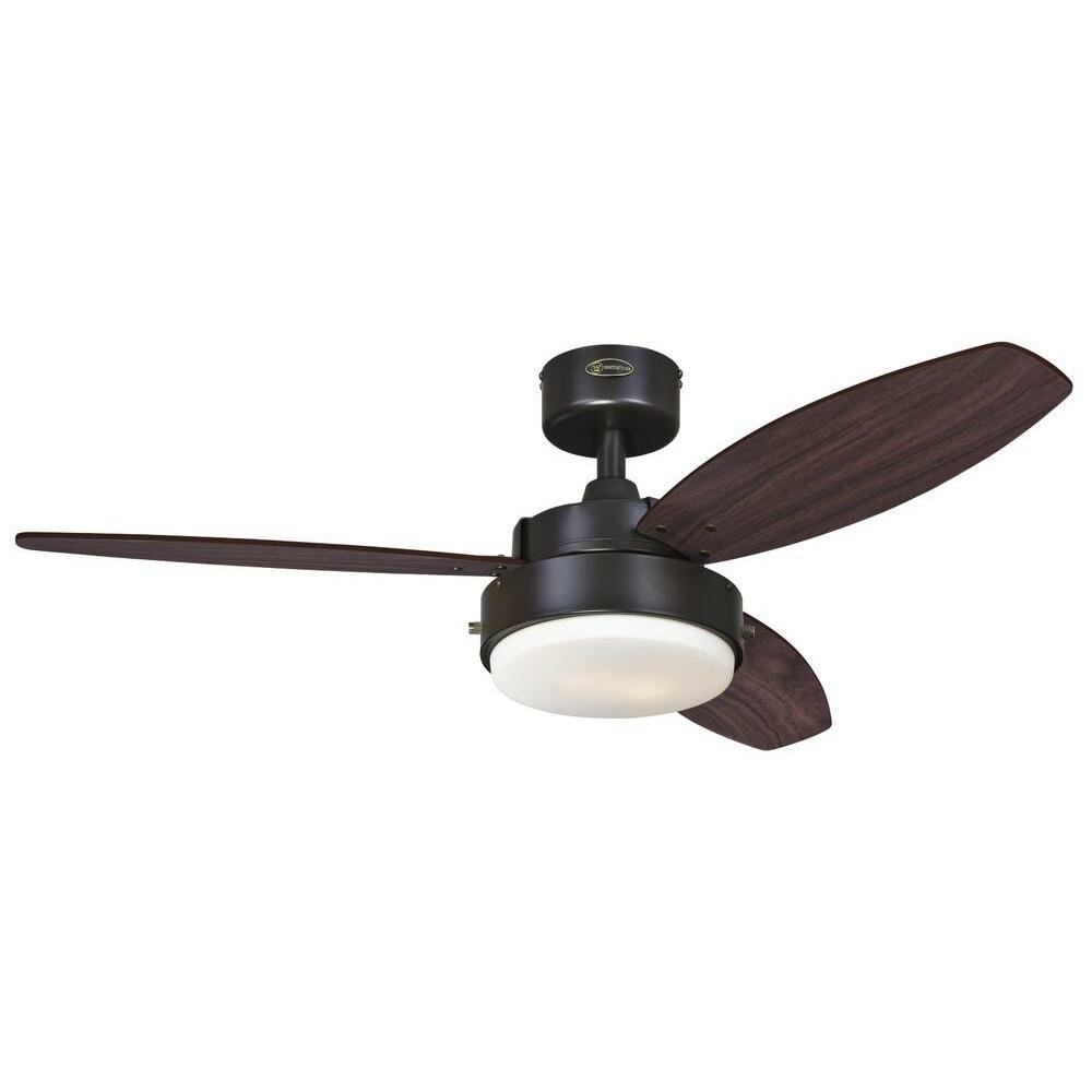 westinghouse lighting 42 alloy 3 reversible blade ceiling fan reviews wayfair. Black Bedroom Furniture Sets. Home Design Ideas