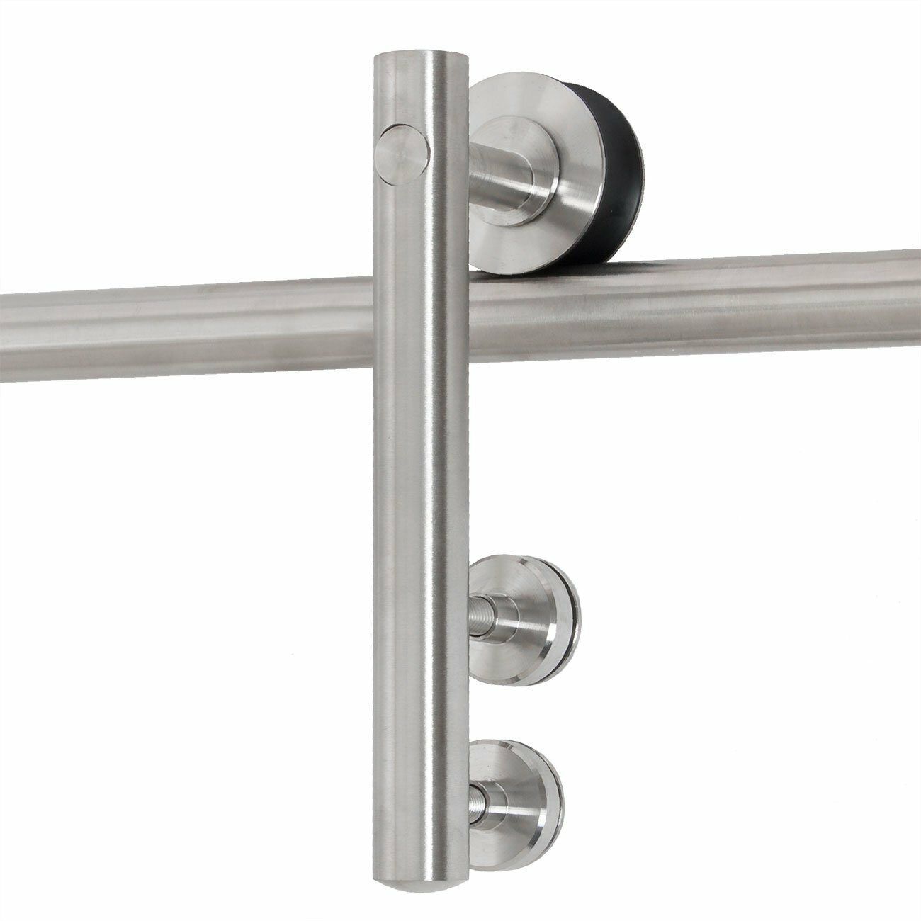 Belleze modern interior glass sliding door track hardware for Sliding glass doors hardware