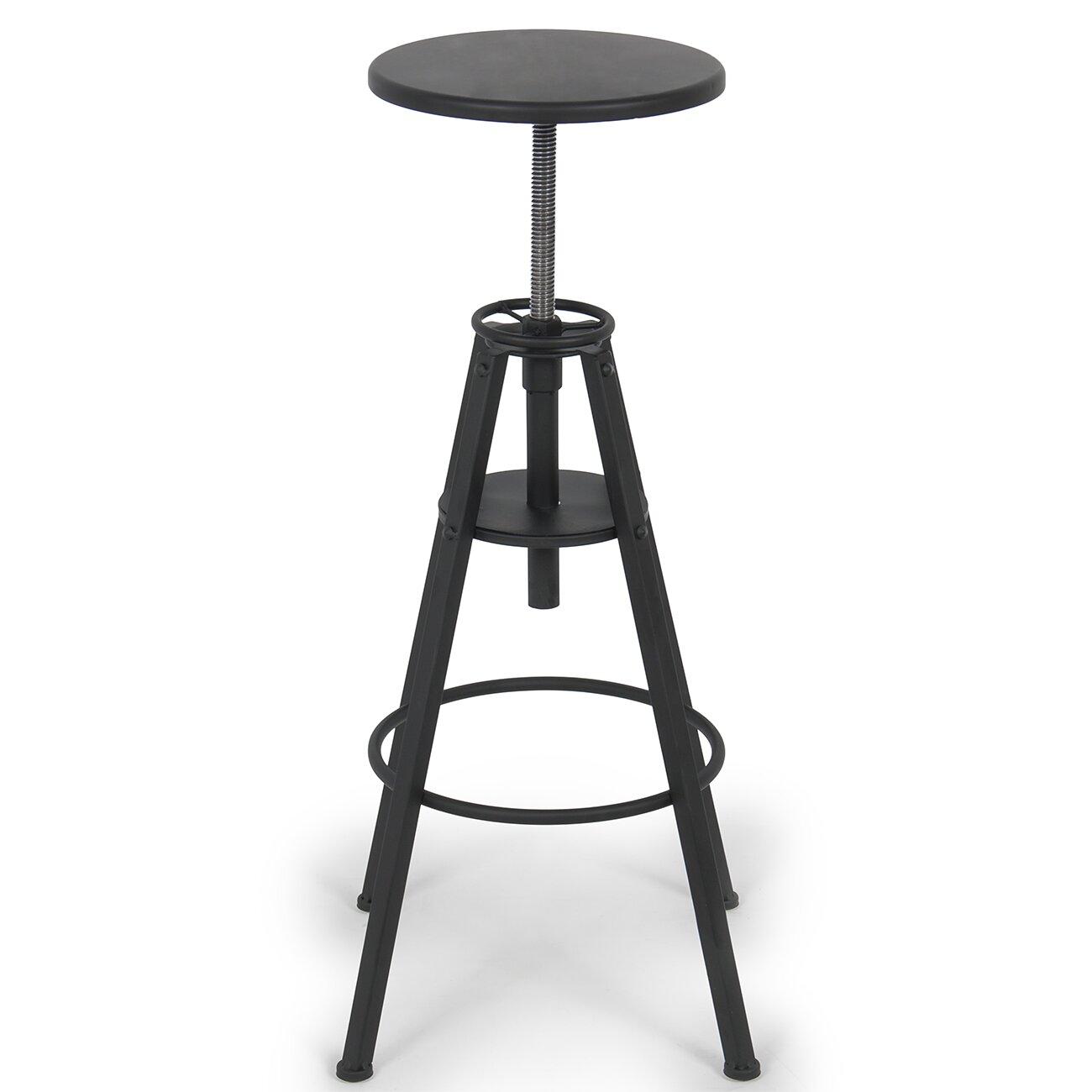 Belleze adjustable height swivel bar stool reviews wayfair for Adjustable height bar stools