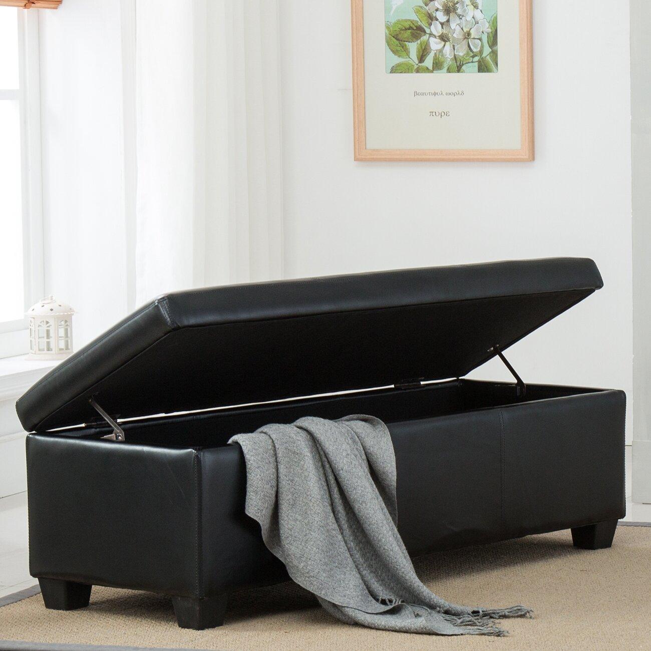 Belleze Upholstered Storage Bedroom Bench & Reviews