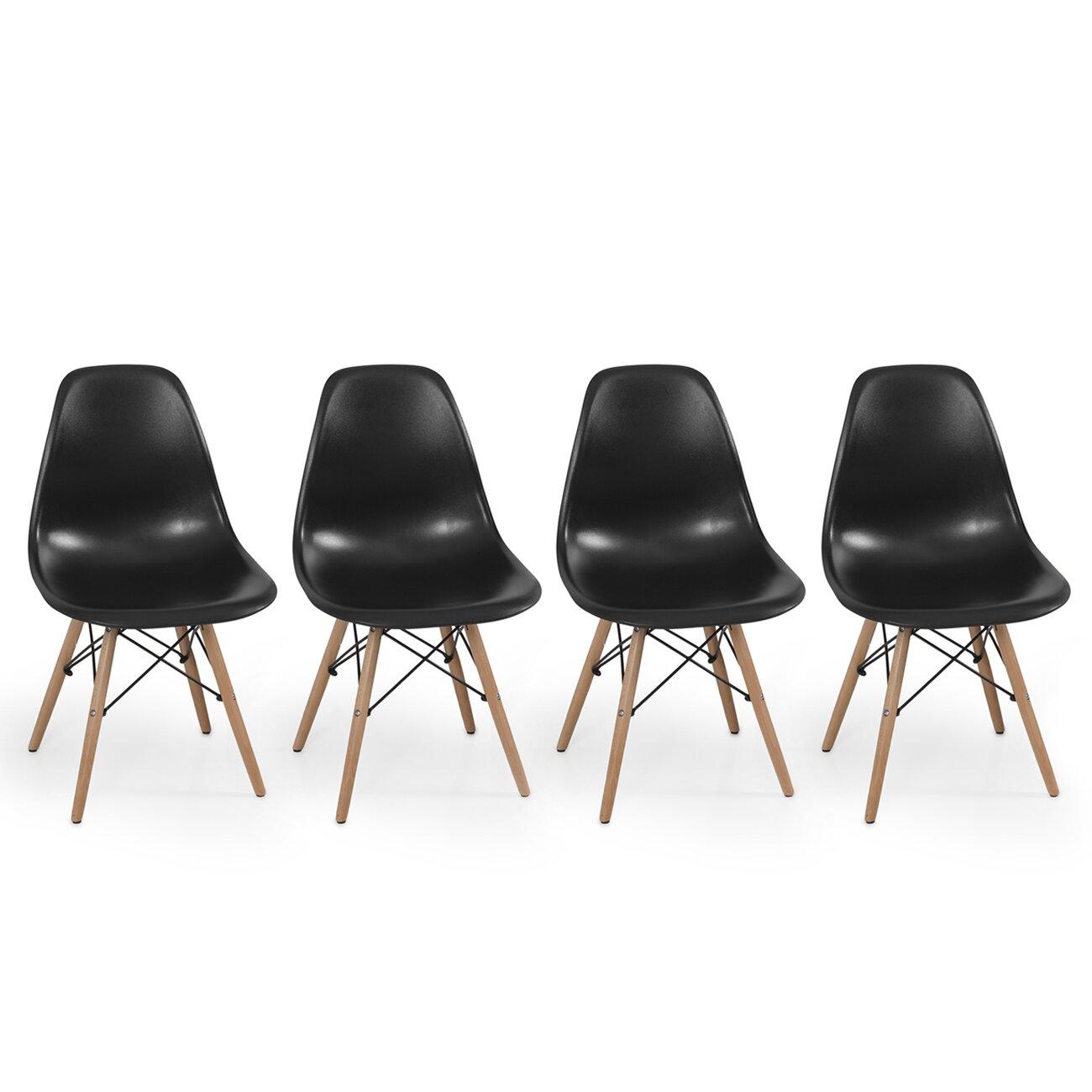 Belleze dowel eames side chair reviews wayfair for Eames side chair nachbau