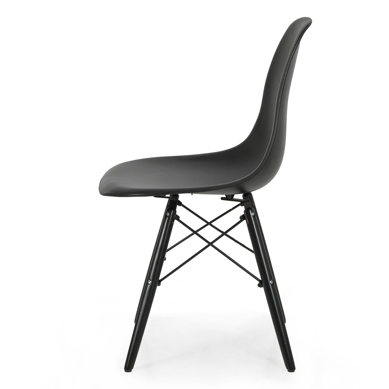belleze eames molded plasticside chair wayfair. Black Bedroom Furniture Sets. Home Design Ideas