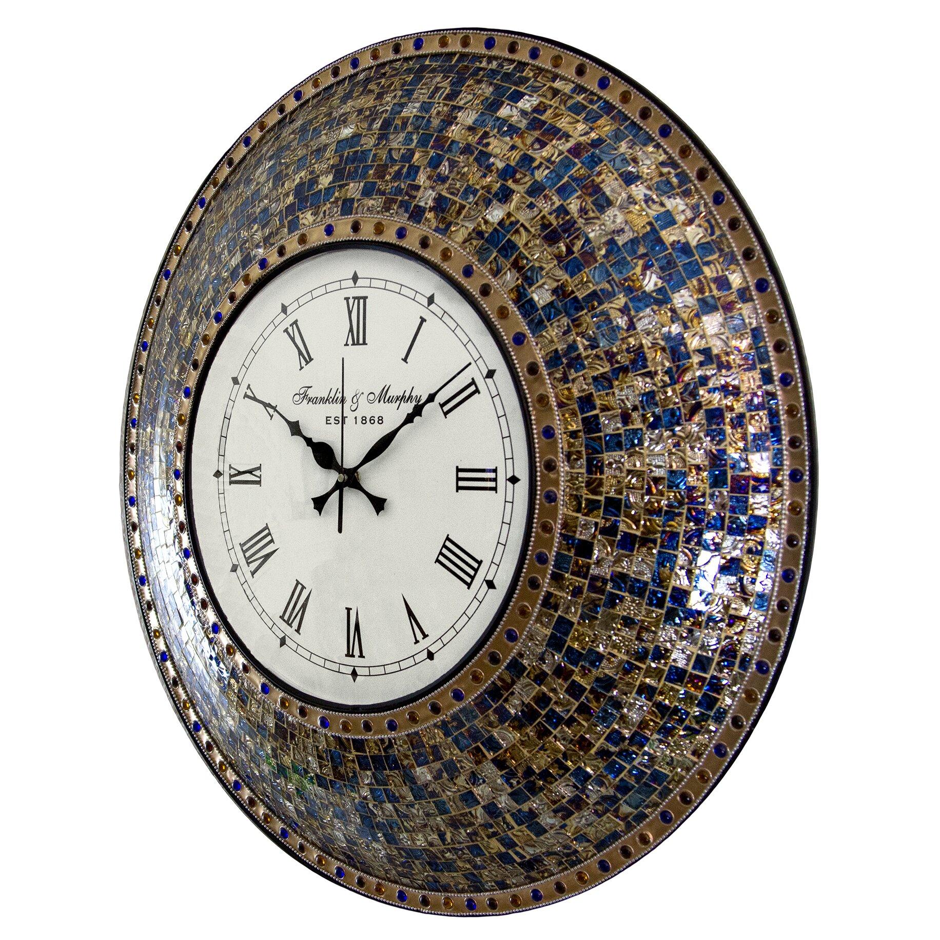 Luca Charcoal 40cm SILENT Wall Clock |Silent Wall Clock