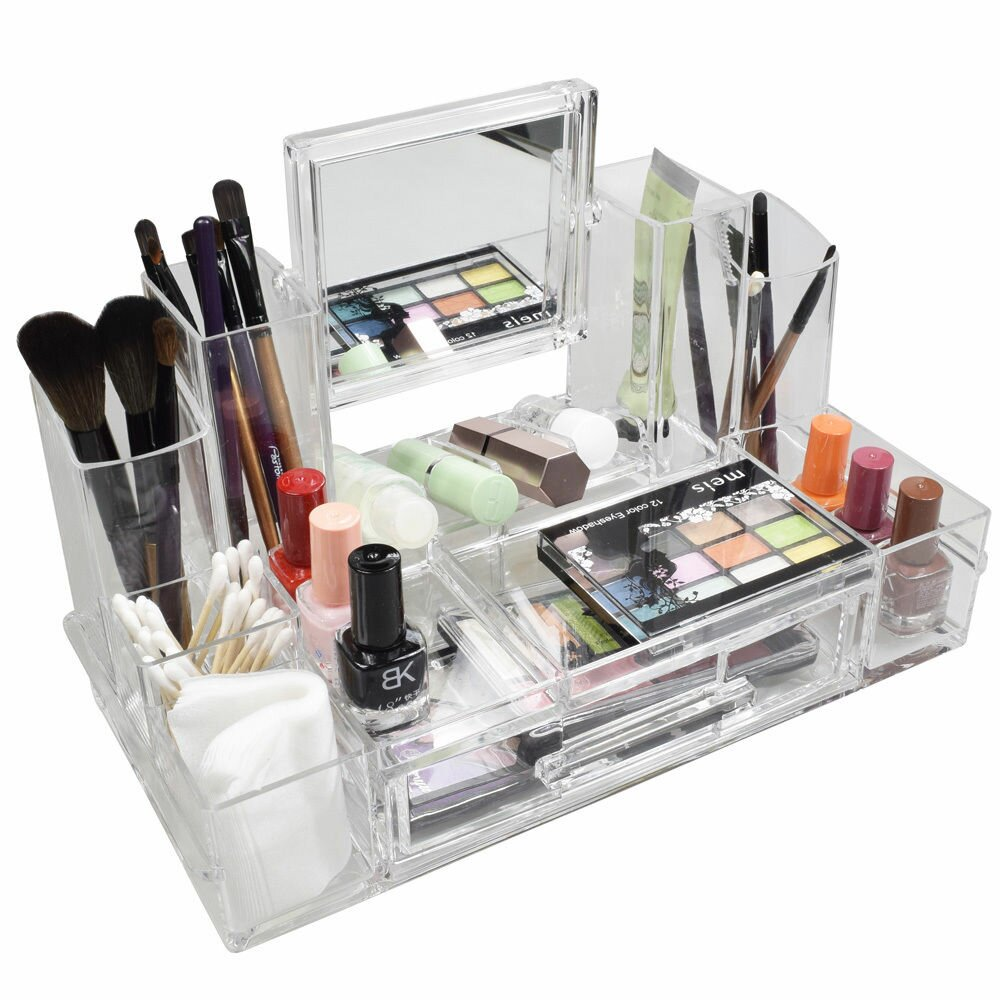 ikee design luxury makeup cosmetic organizer wayfair. Black Bedroom Furniture Sets. Home Design Ideas