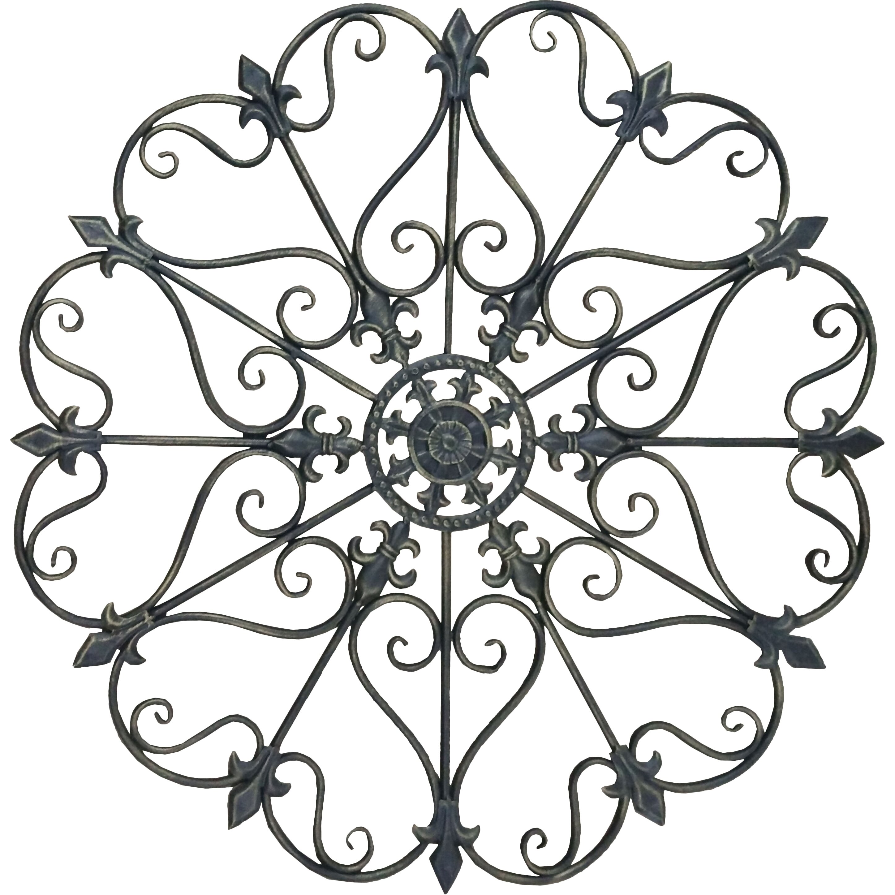 Wrought iron wall decorations for Wrought iron decorations home