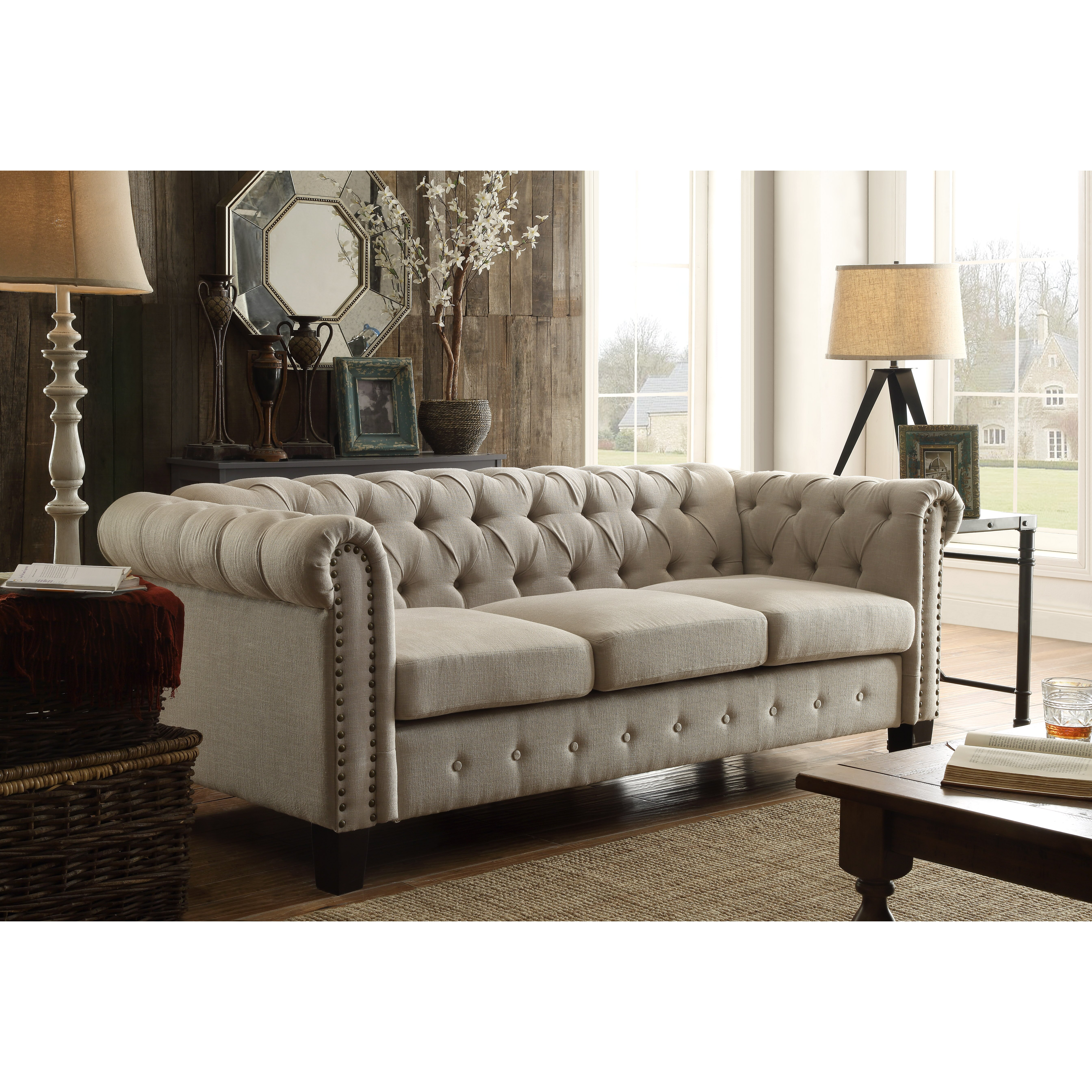 Laurel Foundry Modern Farmhouse Adeline Chesterfield Sofa