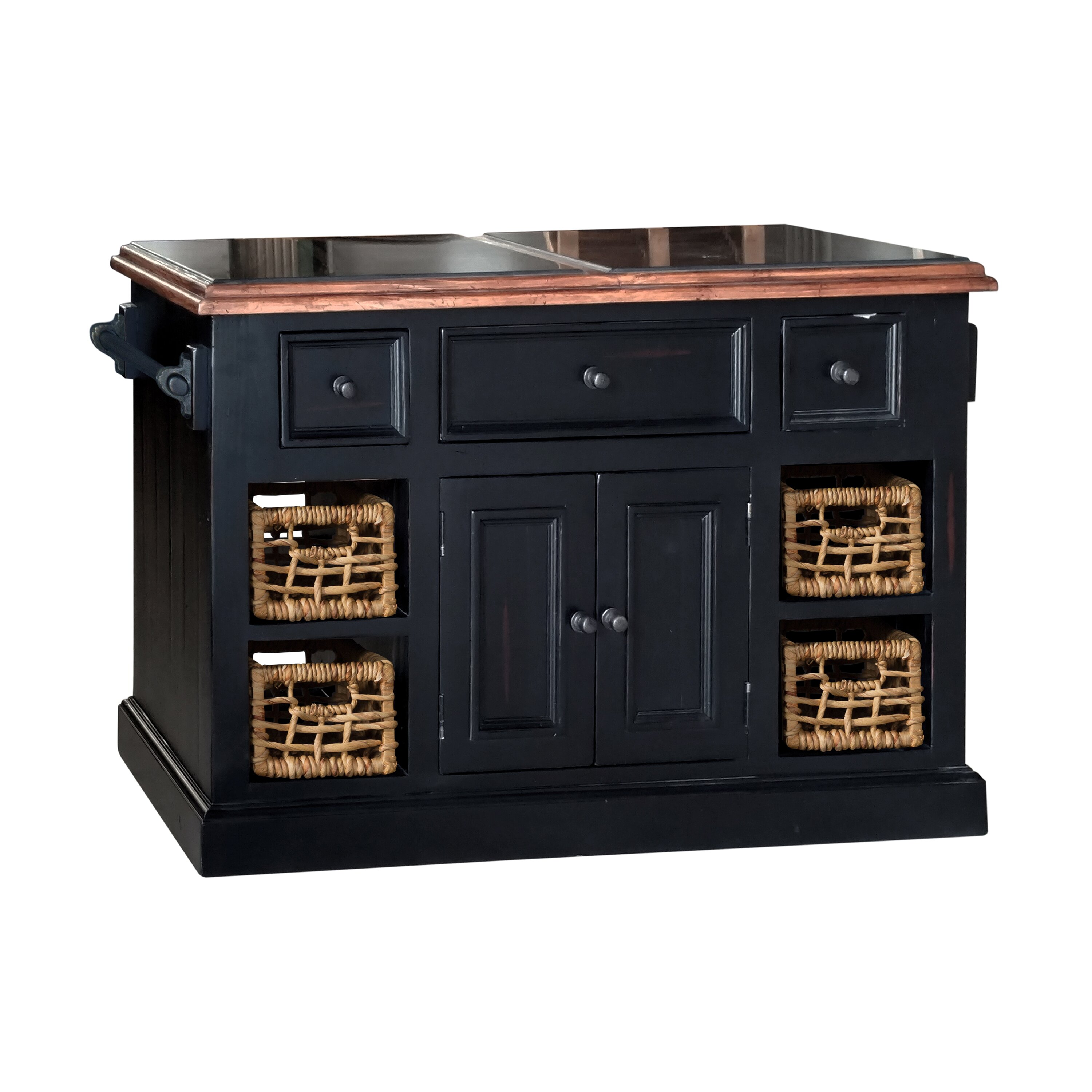 Kitchen Island With Marble Top: Laurel Foundry Modern Farmhouse Zula Kitchen Island With