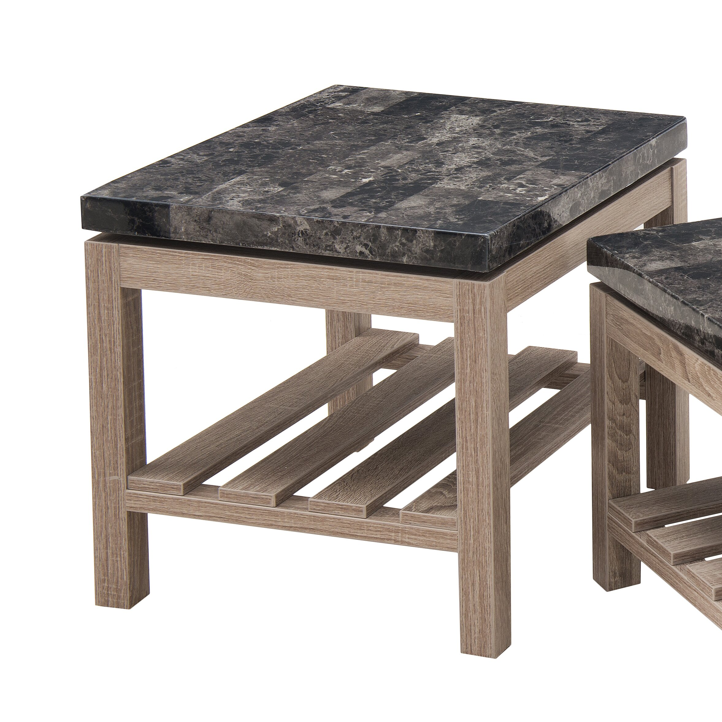 Modern Farmhouse Coffee Table: Laurel Foundry Modern Farmhouse Ambroise Coffee Table Set