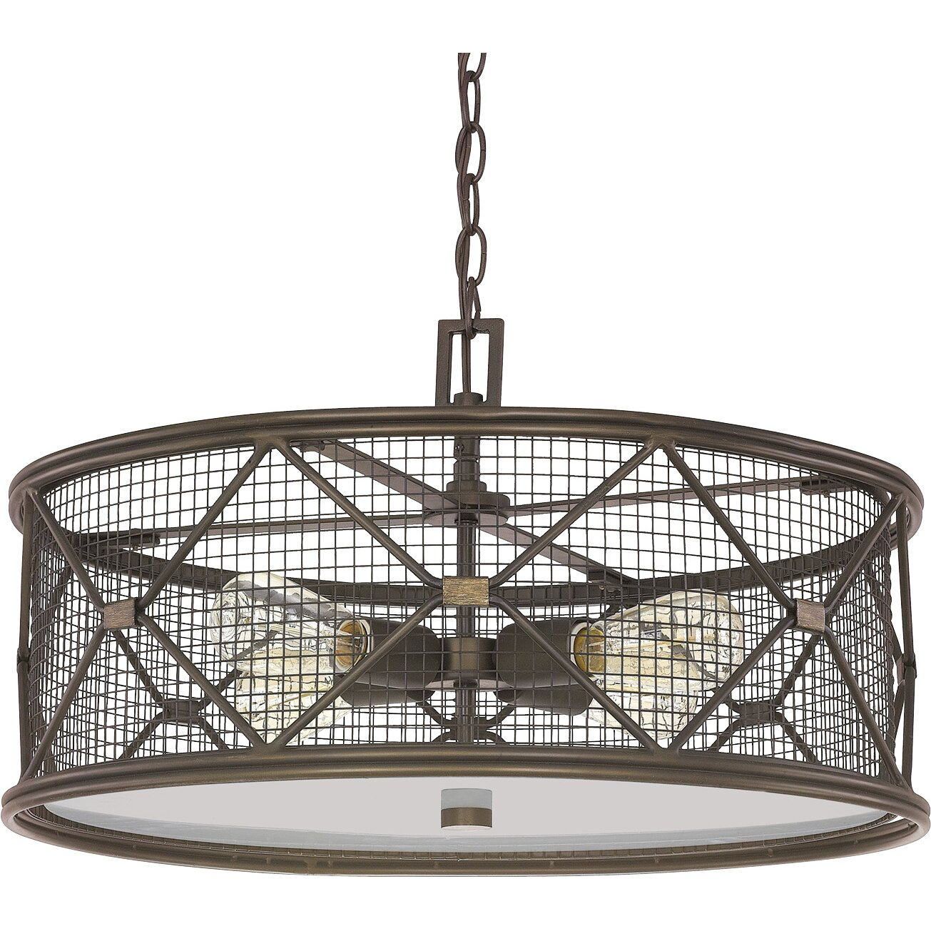 Foyer Drum Lighting : Laurel foundry modern farmhouse ashley light drum foyer