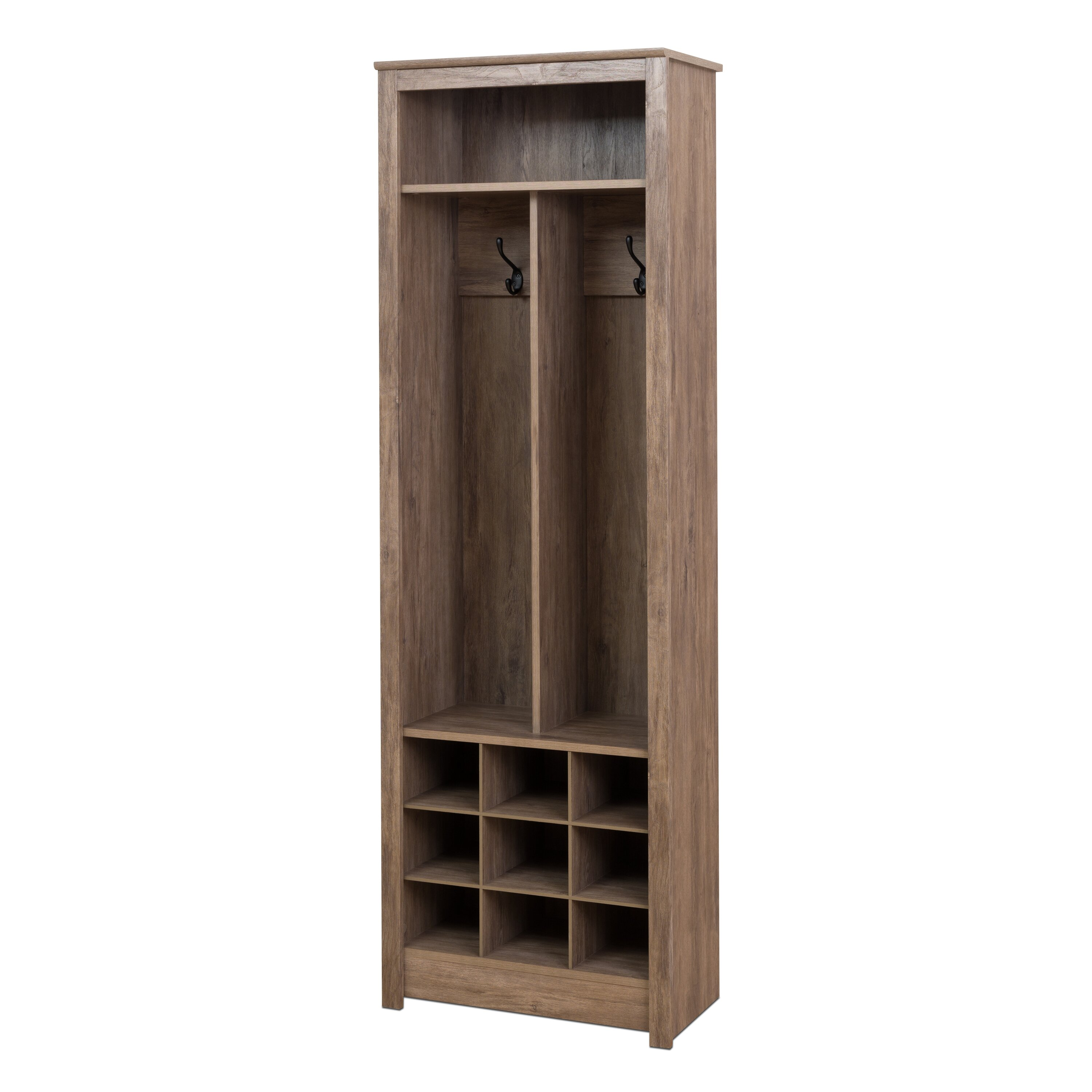 Camila Space Saving Entryway Organizer with Shoe Storage in Drifted Gray
