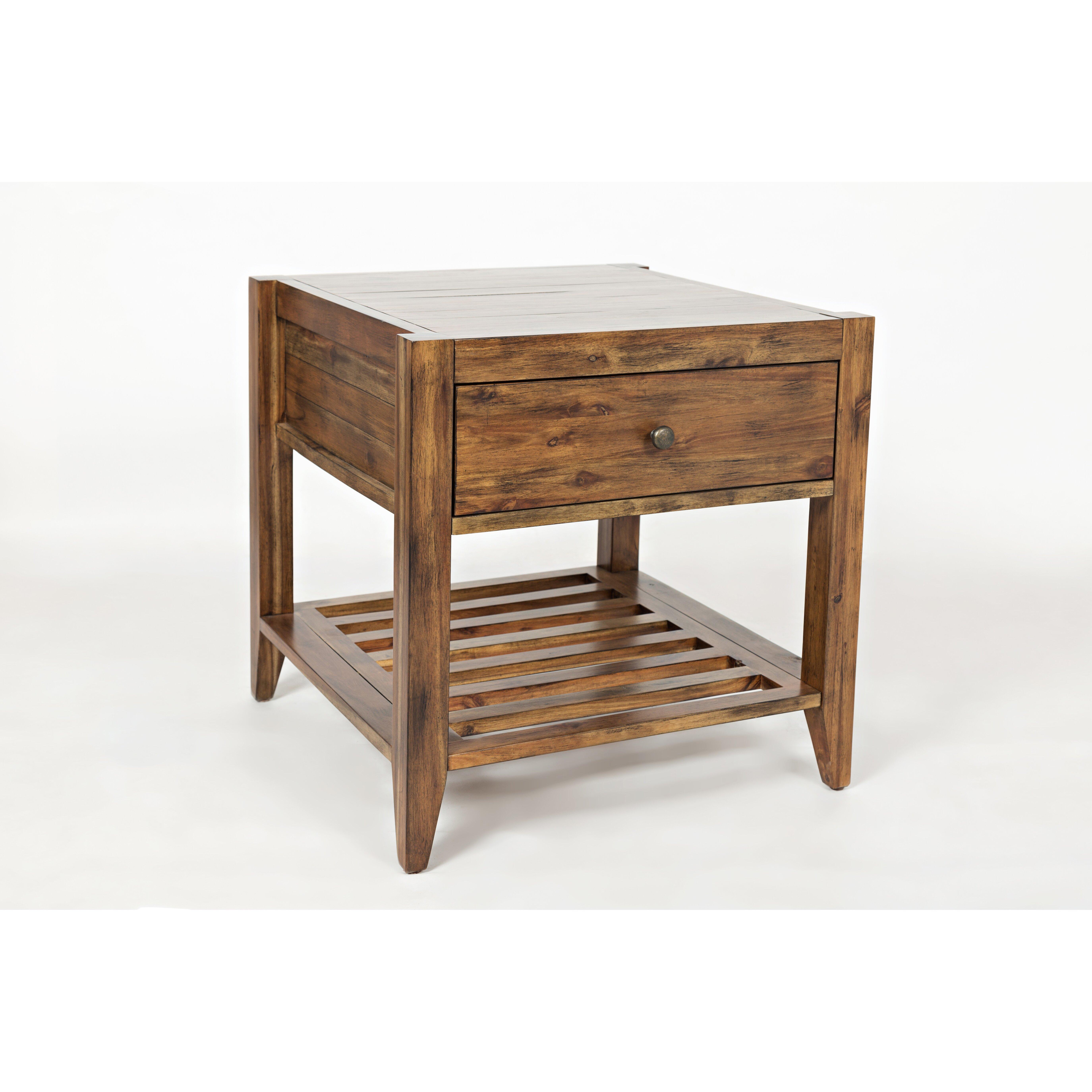 Laurel foundry modern farmhouse athena end table wayfair for Farmhouse end table set