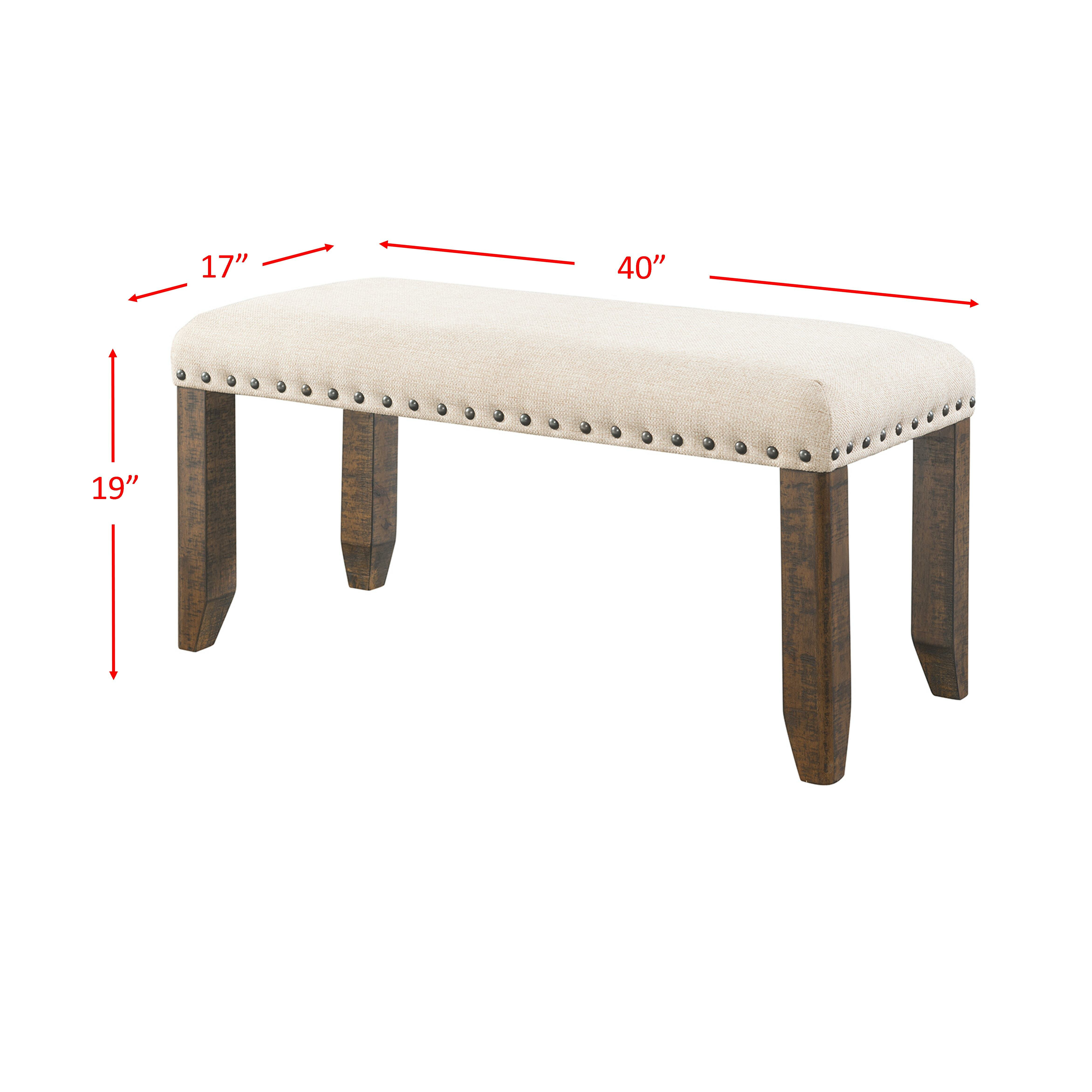 Laurel Foundry Modern Farmhouse Dearing Upholstered Kitchen Bench Reviews Wayfair