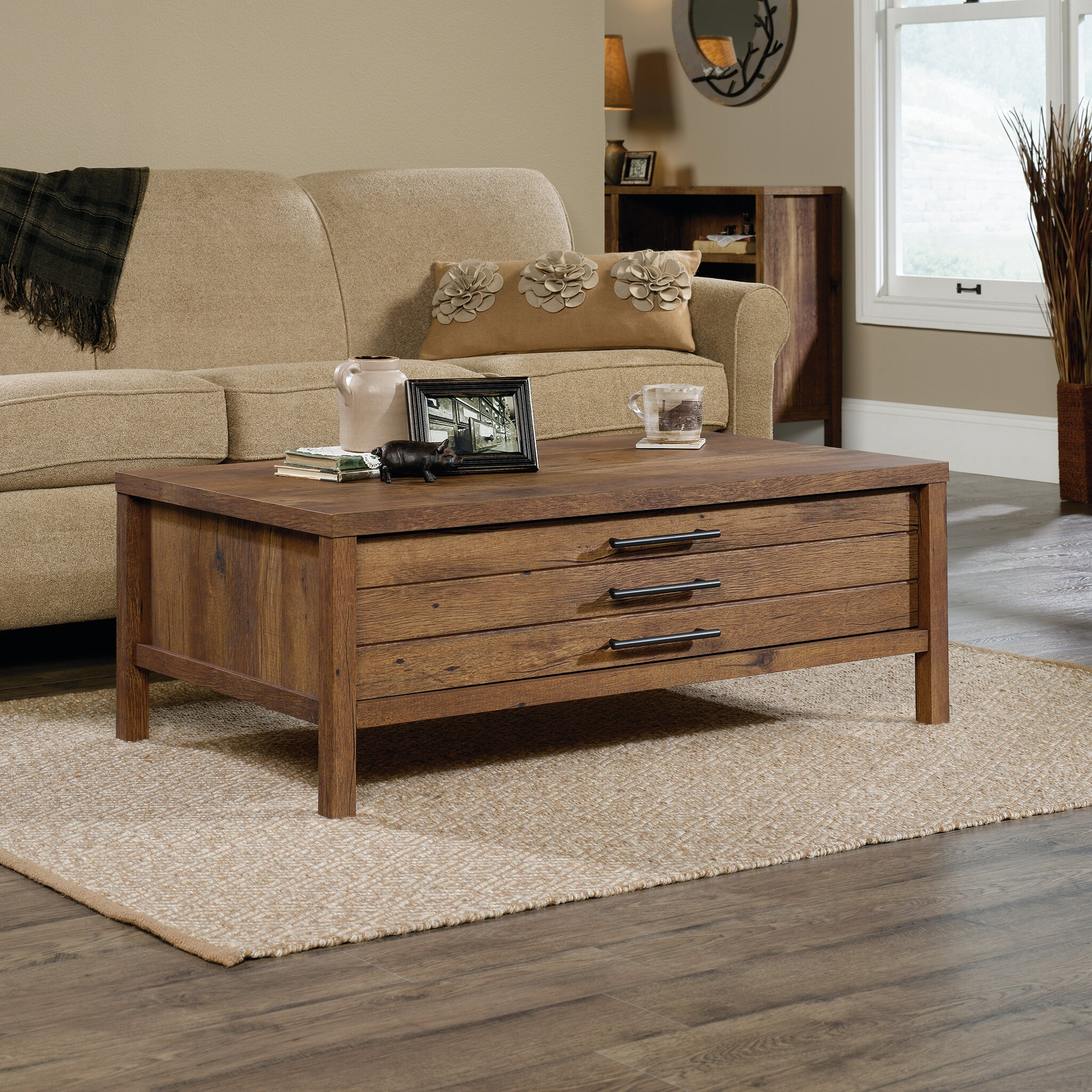 Laurel foundry modern farmhouse odile coffee table for Modern farmhouse coffee table