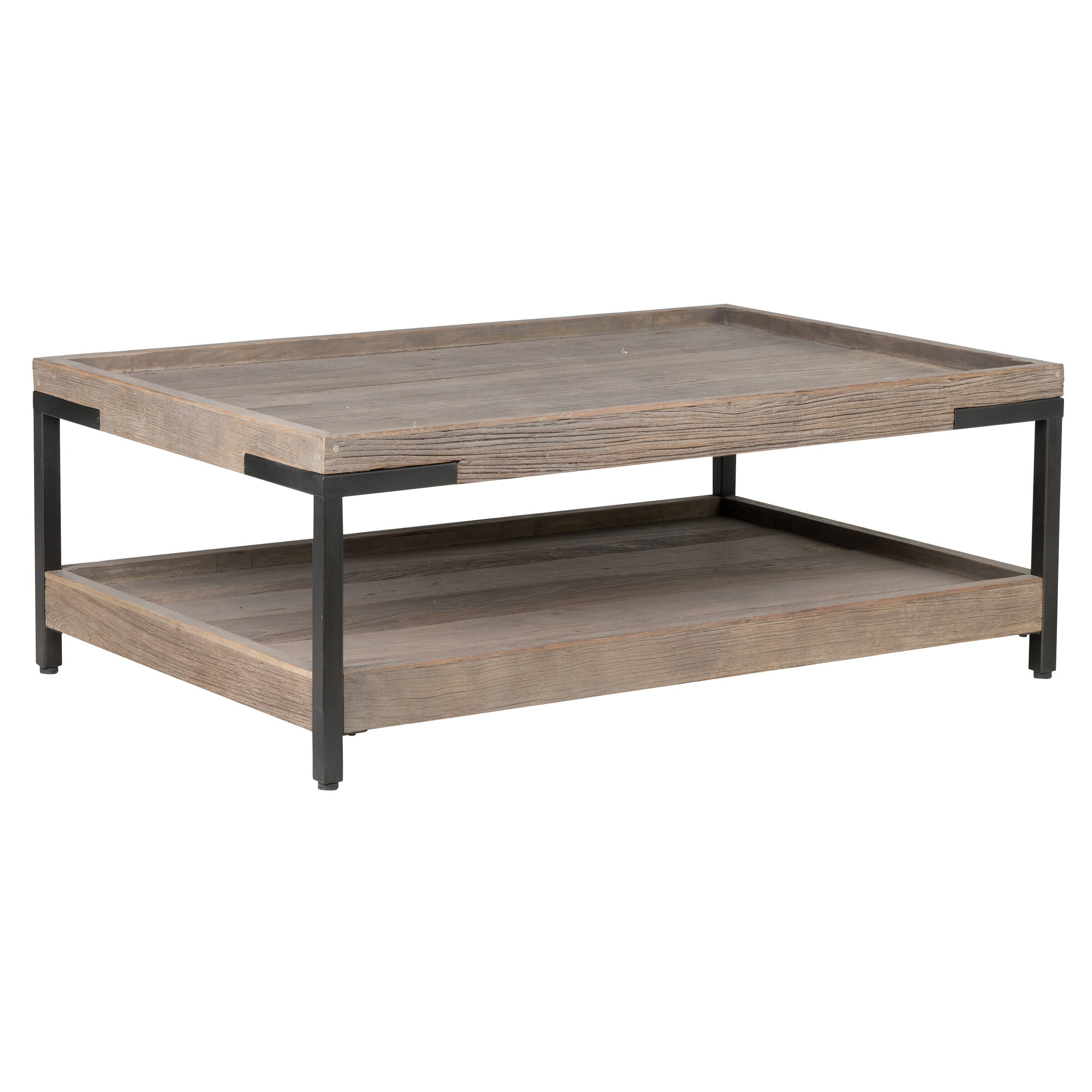 Laurel foundry modern farmhouse nena coffee table wayfair for Modern farmhouse coffee table