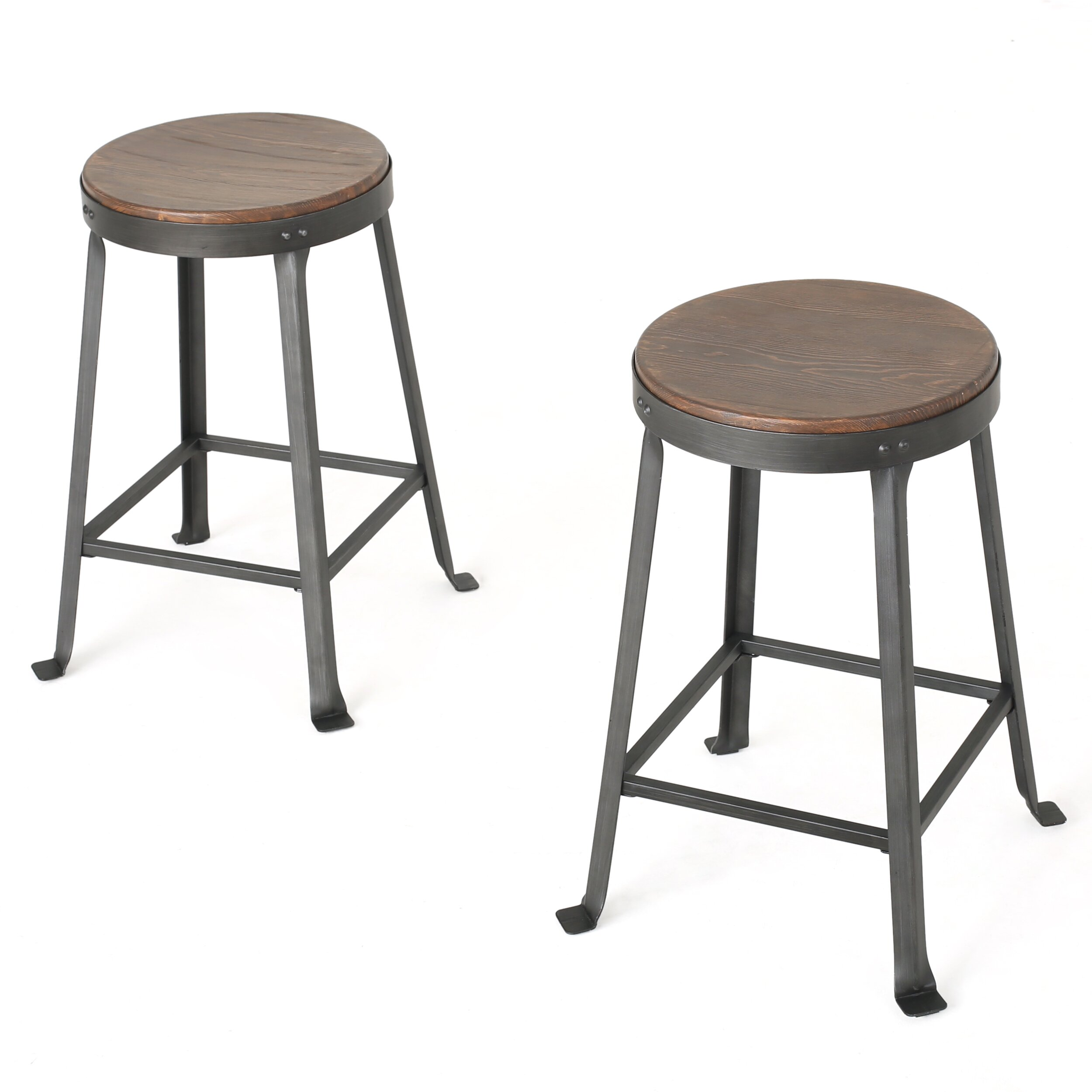 "Laurel Foundry Modern Farmhouse Nathalie 24"" Bar Stool & Reviews"