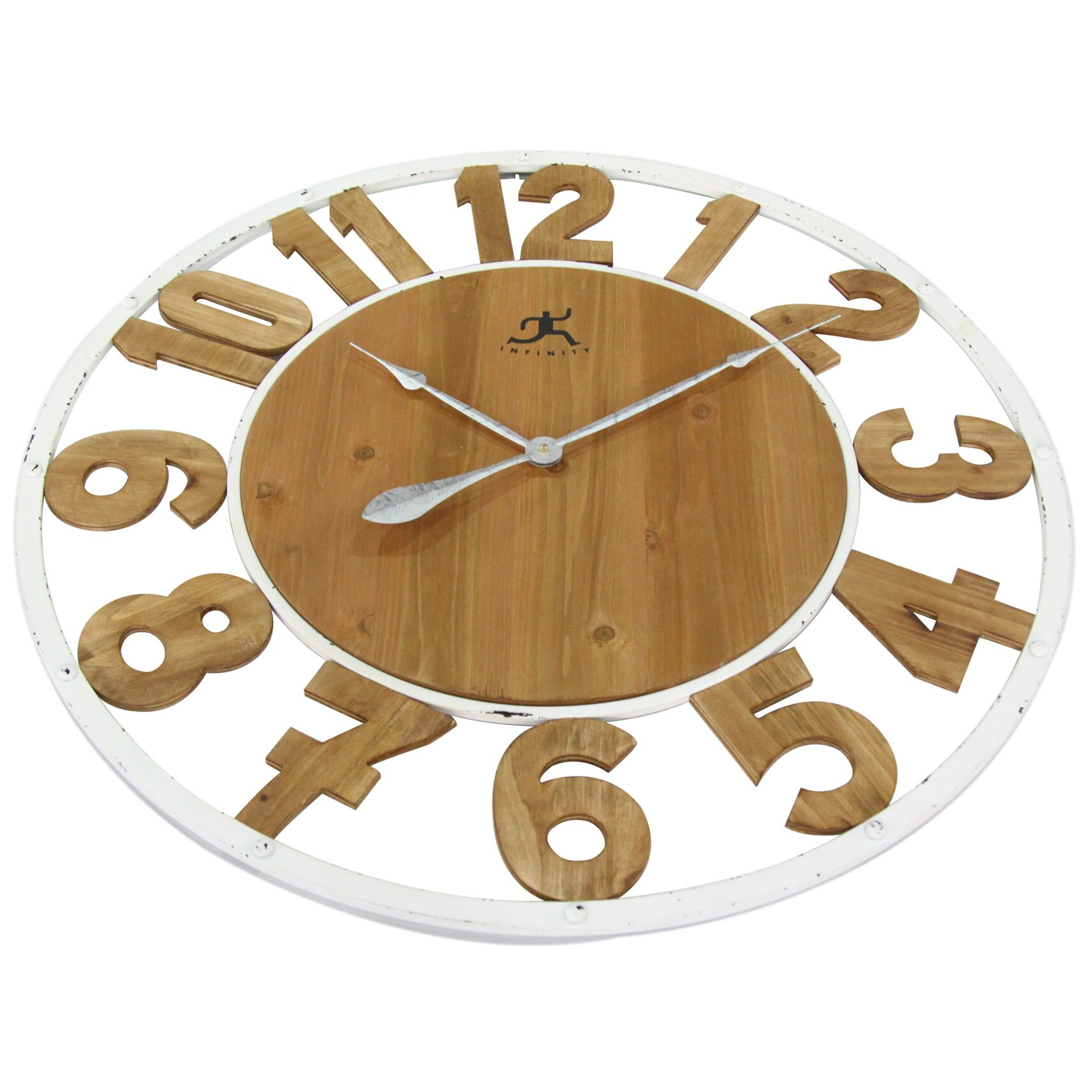 Laurel foundry modern farmhouse oversized 32 wall clock - Oversized modern wall clock ...