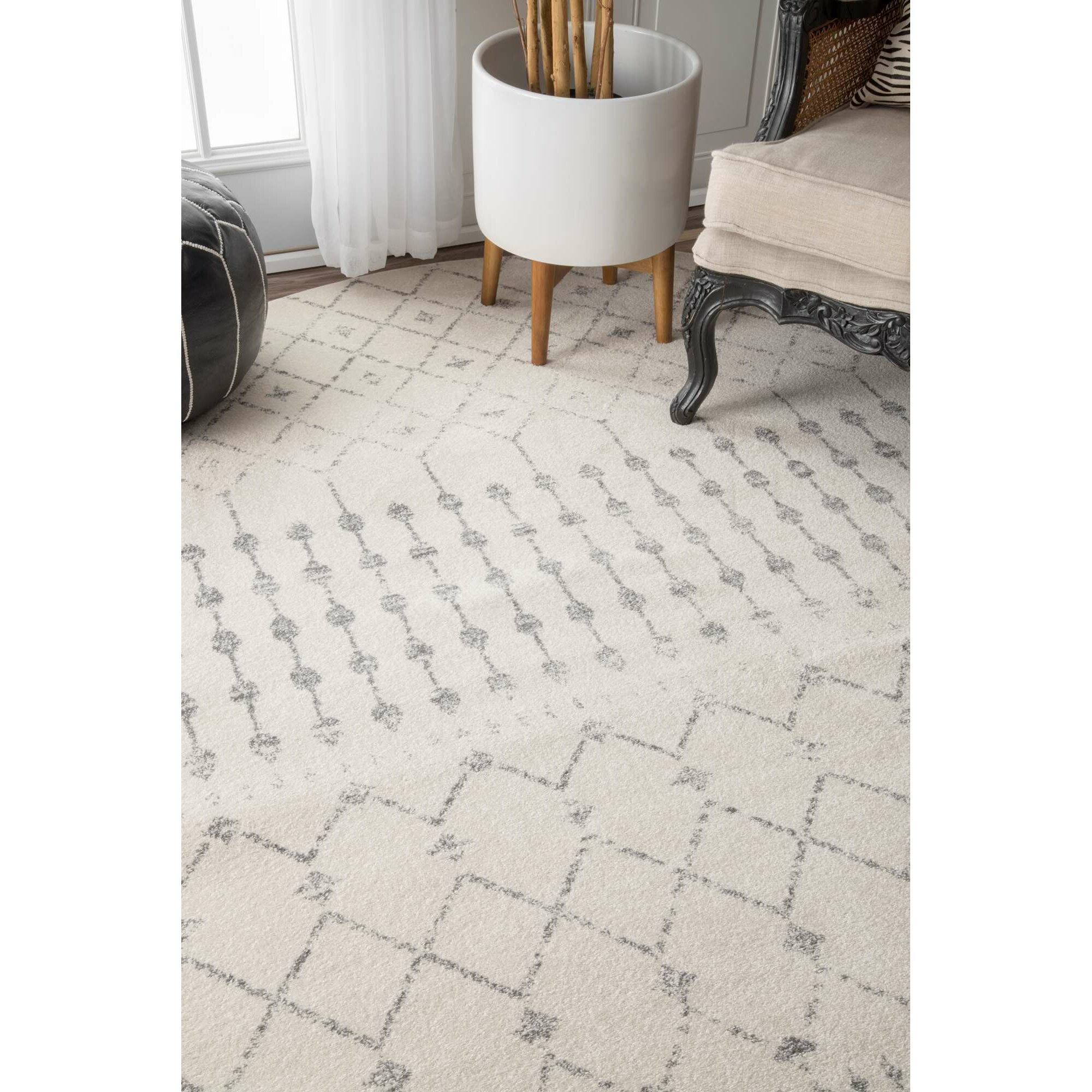 Laurel Foundry Modern Farmhouse Olga Gray Area Rug & Reviews