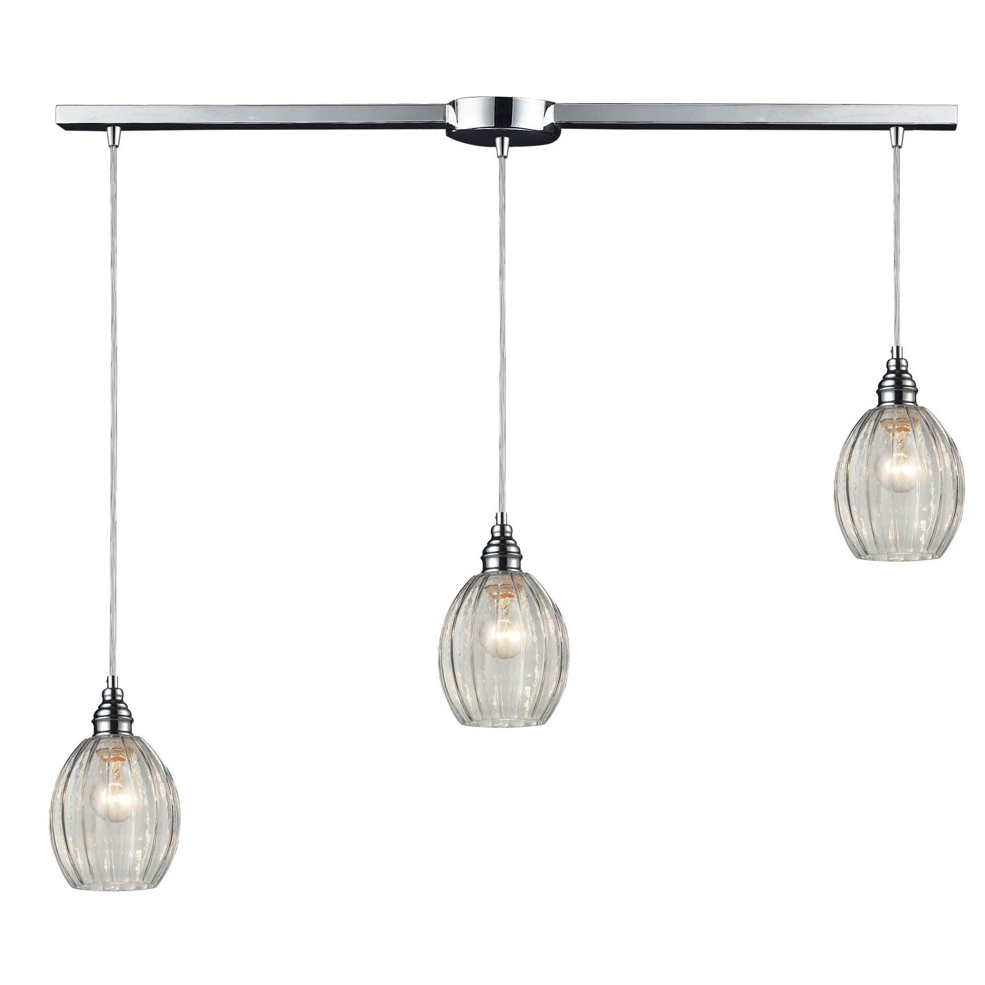 Laurel foundry modern farmhouse orofino 3 light kitchen for Modern island pendant lighting