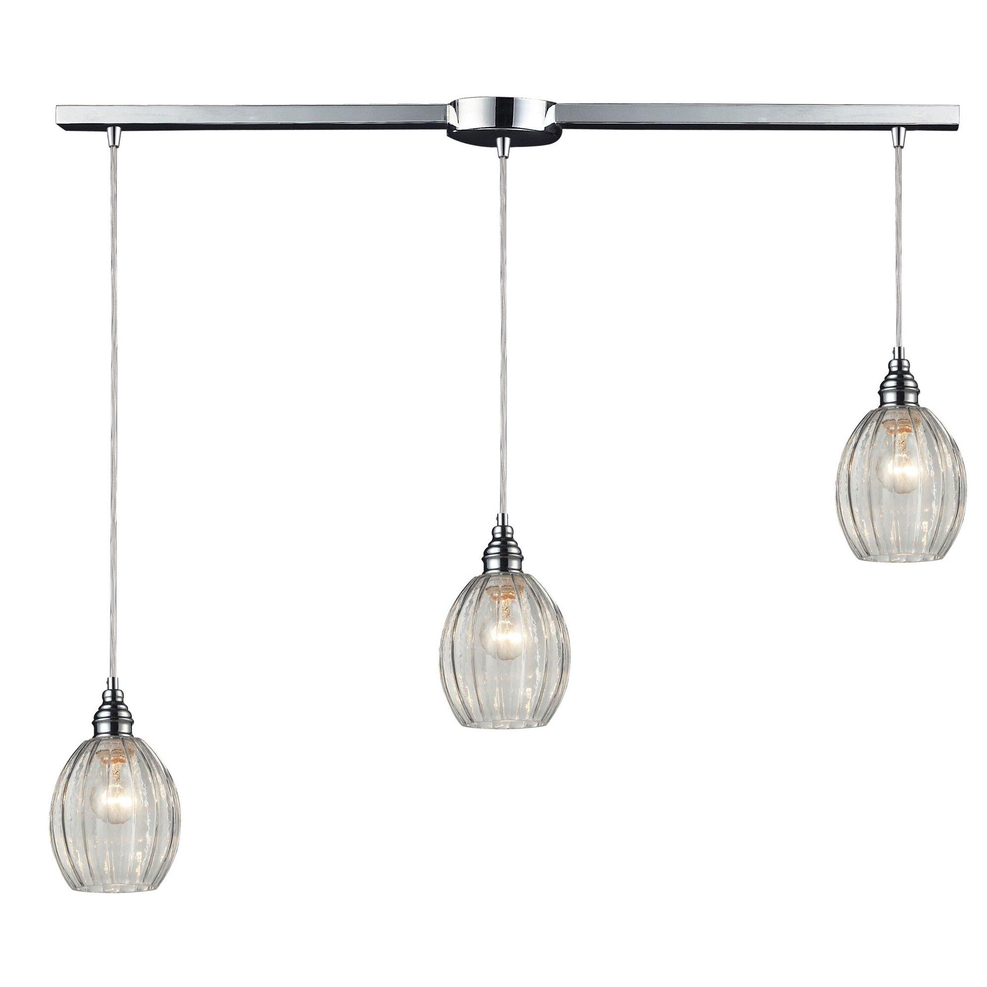 Laurel foundry modern farmhouse orofino 3 light kitchen for Modern kitchen light pendants