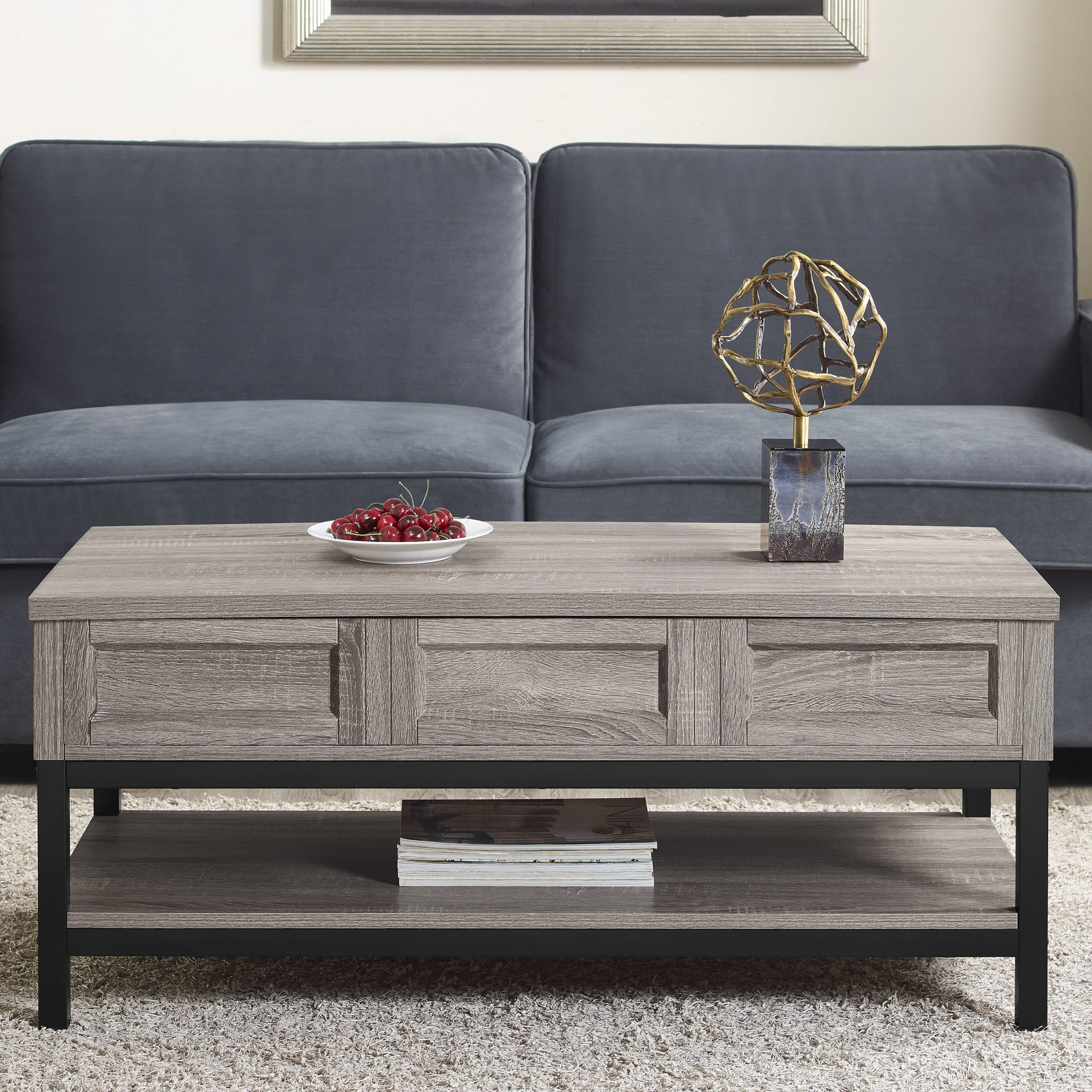Modern Farmhouse Coffee Table: Laurel Foundry Modern Farmhouse Omar Coffee Table With