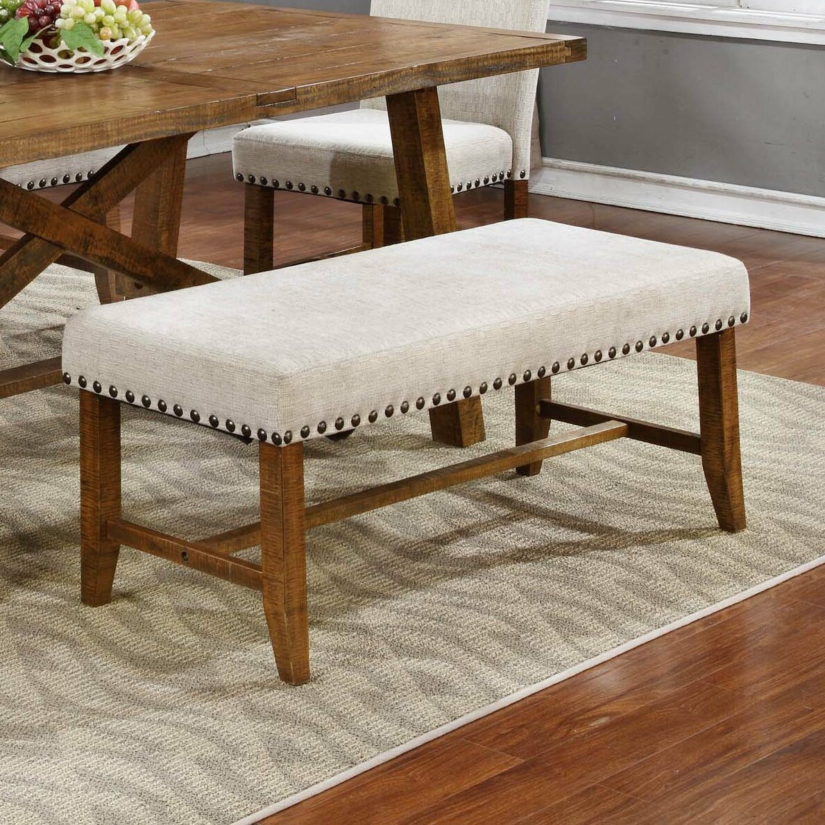 Laurel Foundry Modern Farmhouse Montagnes Upholstered Kitchen Bench Reviews Wayfair