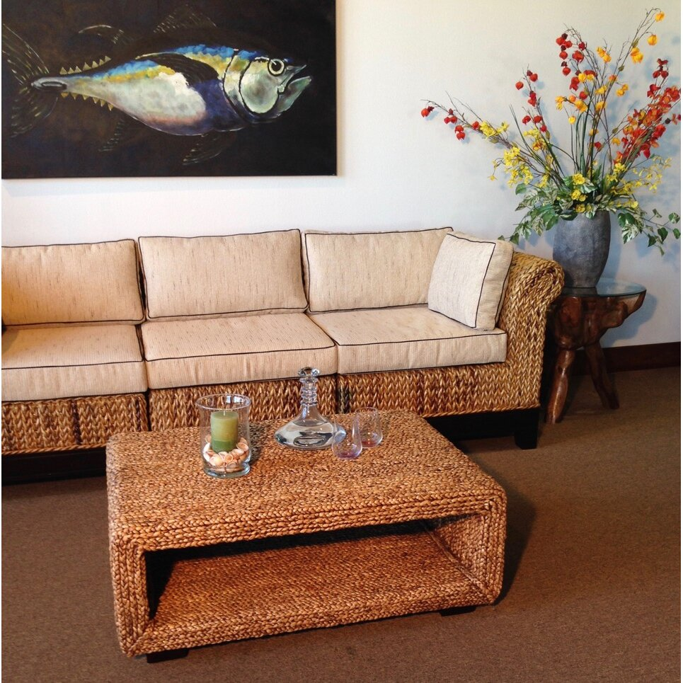 ChicTeak Water Hyacinth Coffee Table
