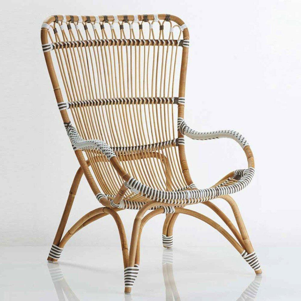 vivaterra dot rattan lounge chair wayfair. Black Bedroom Furniture Sets. Home Design Ideas