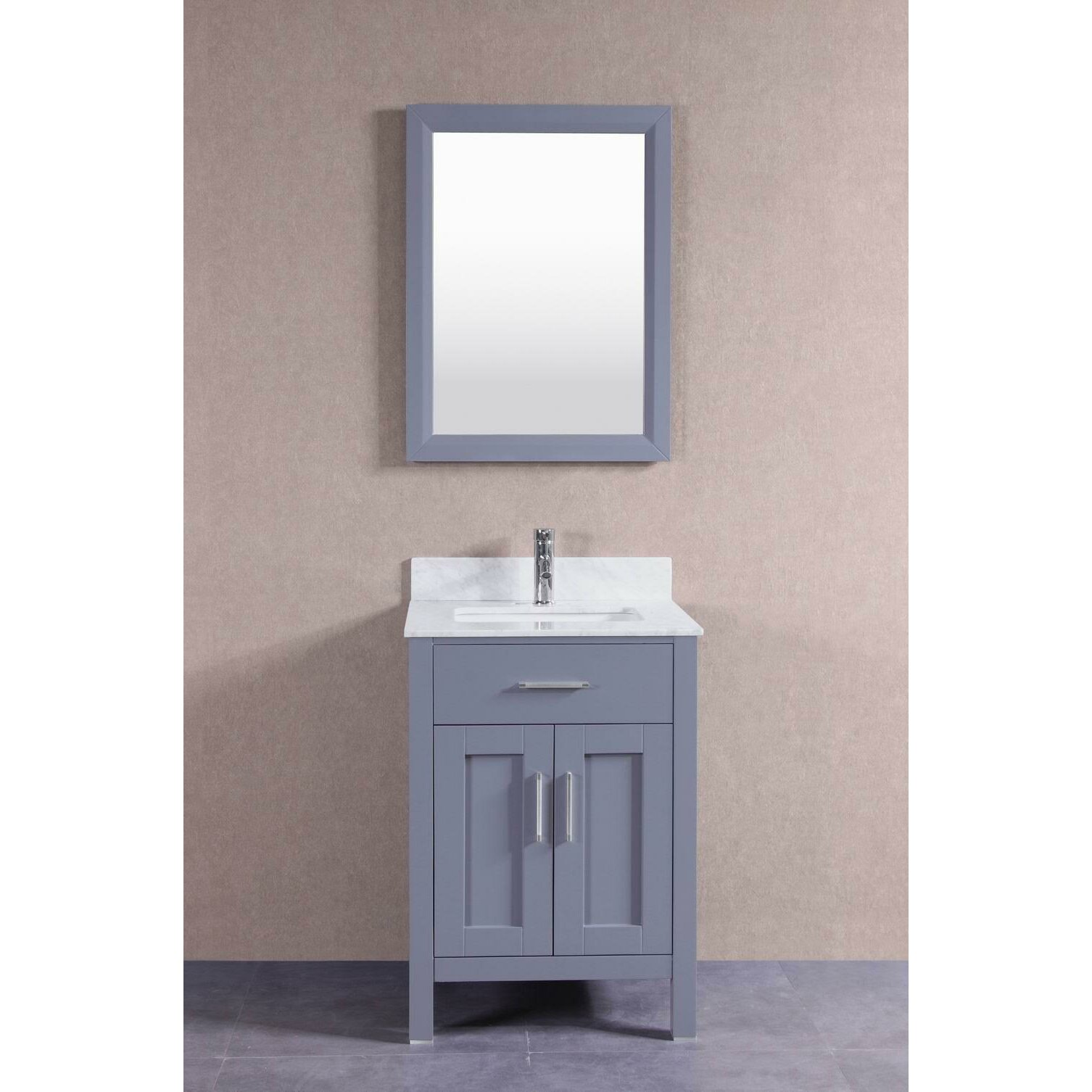 Belvederebath 24 single bathroom vanity set wayfair for Single bathroom vanity