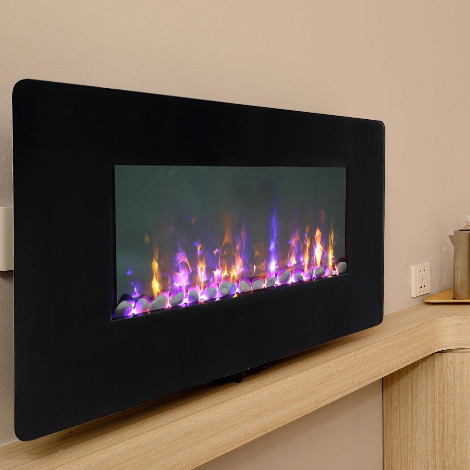 Firefly Wi Fi Smart Led Wall Mount Electric Fireplace
