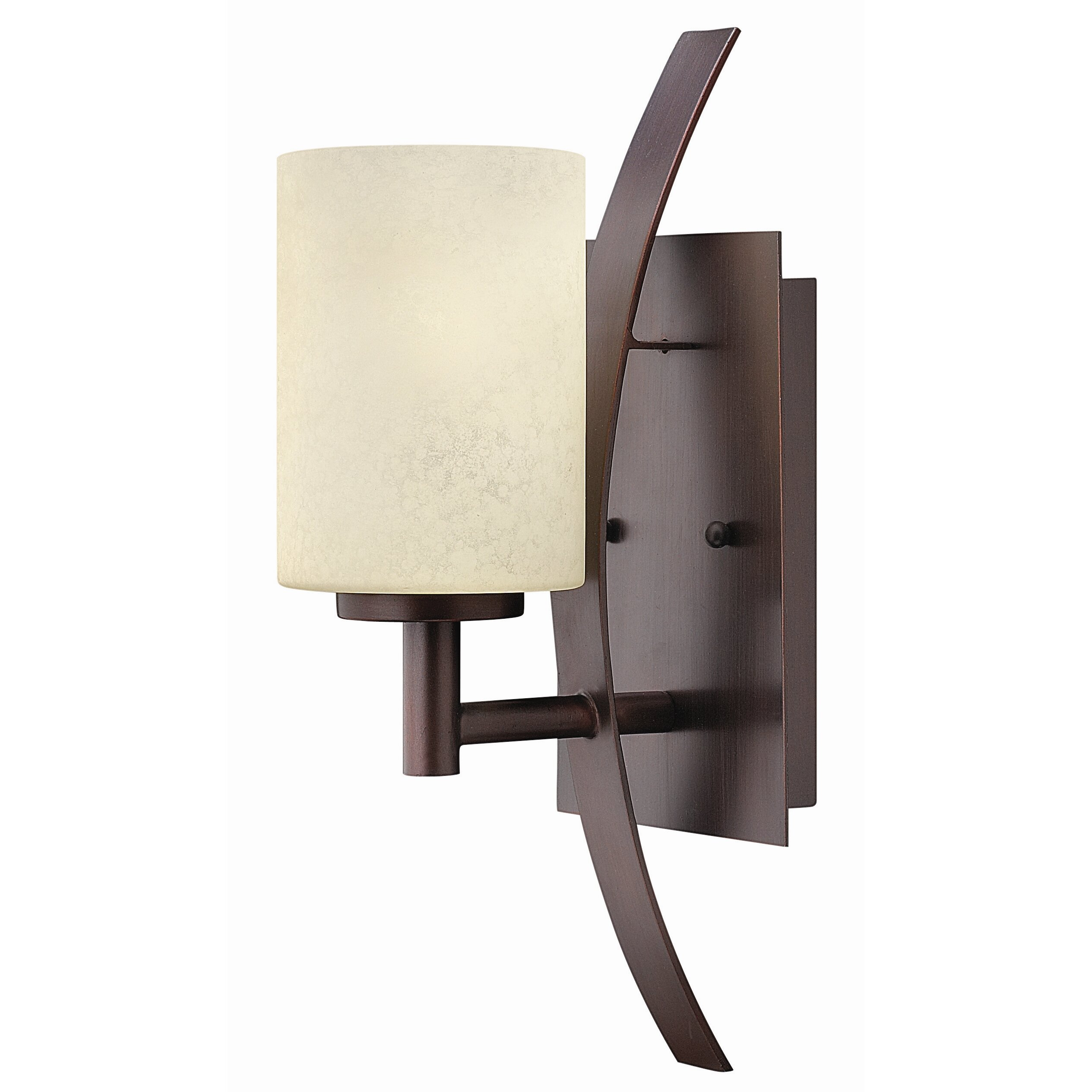 Hinkley lighting stowe 1 light vanity wall sconce for Wall sconces bathroom lighting