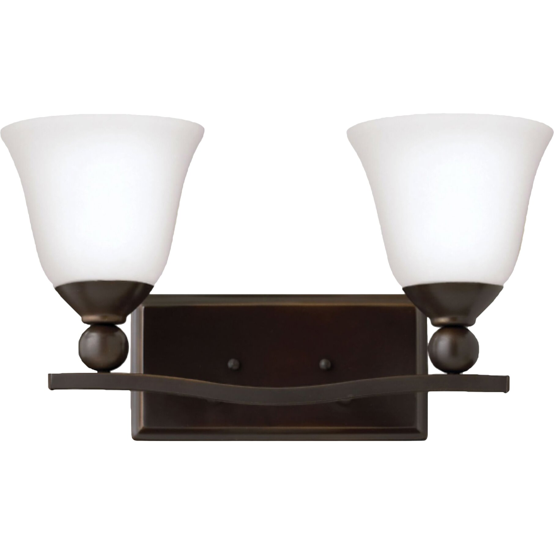 Hinkley Bathroom Wall Sconces : Hinkley Lighting Bolla 2 Light Vanity Wall Sconce & Reviews Wayfair