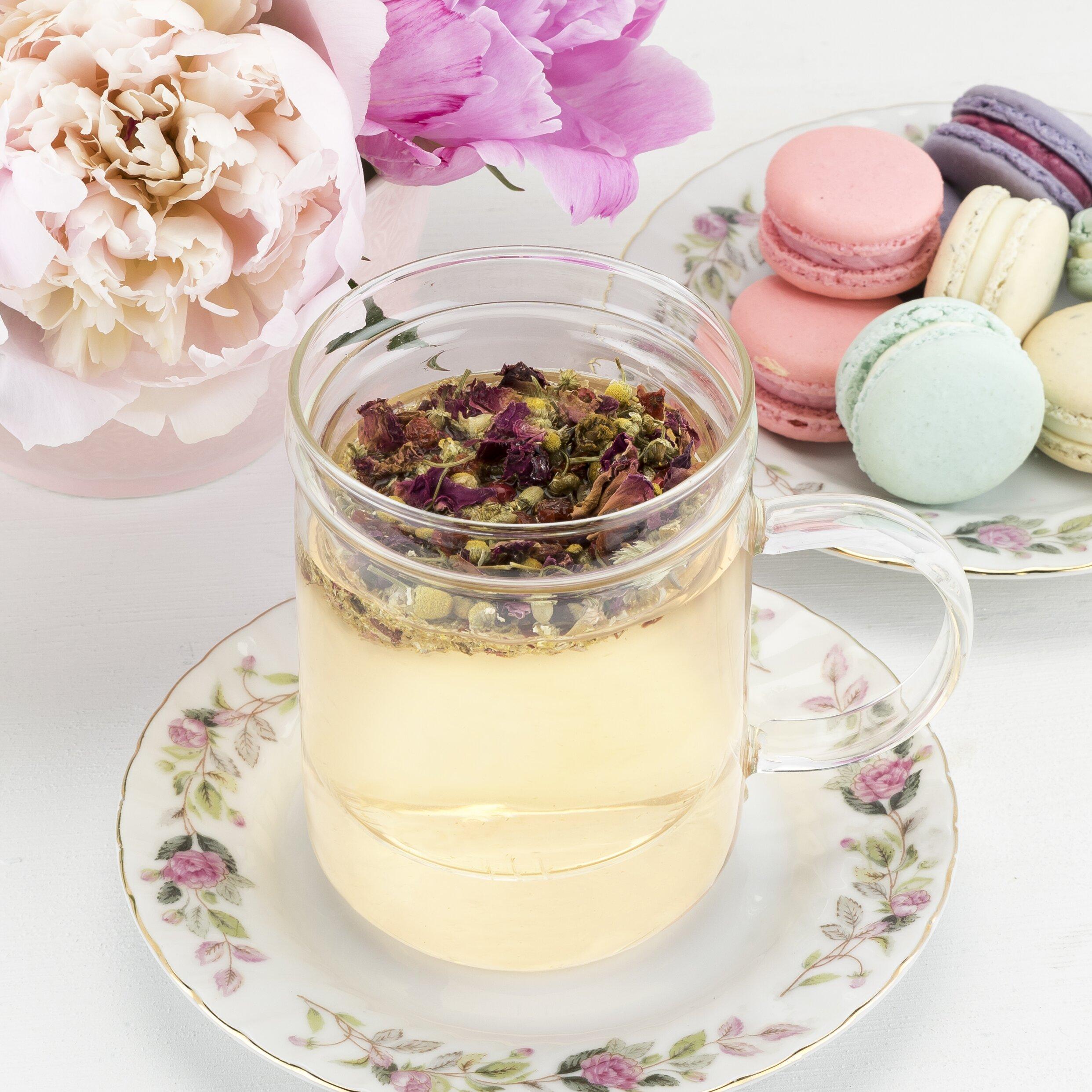 pinky up blake glass tea infuser mug wayfair. Black Bedroom Furniture Sets. Home Design Ideas