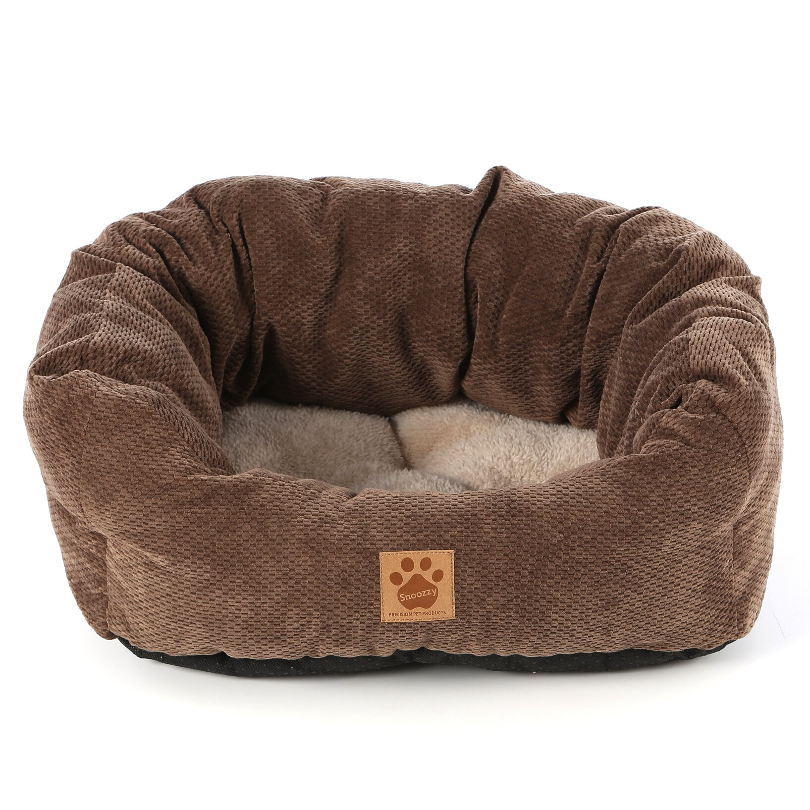 precision pet natural surroundings spot tailored daydreamer bolster dog bed reviews. Black Bedroom Furniture Sets. Home Design Ideas