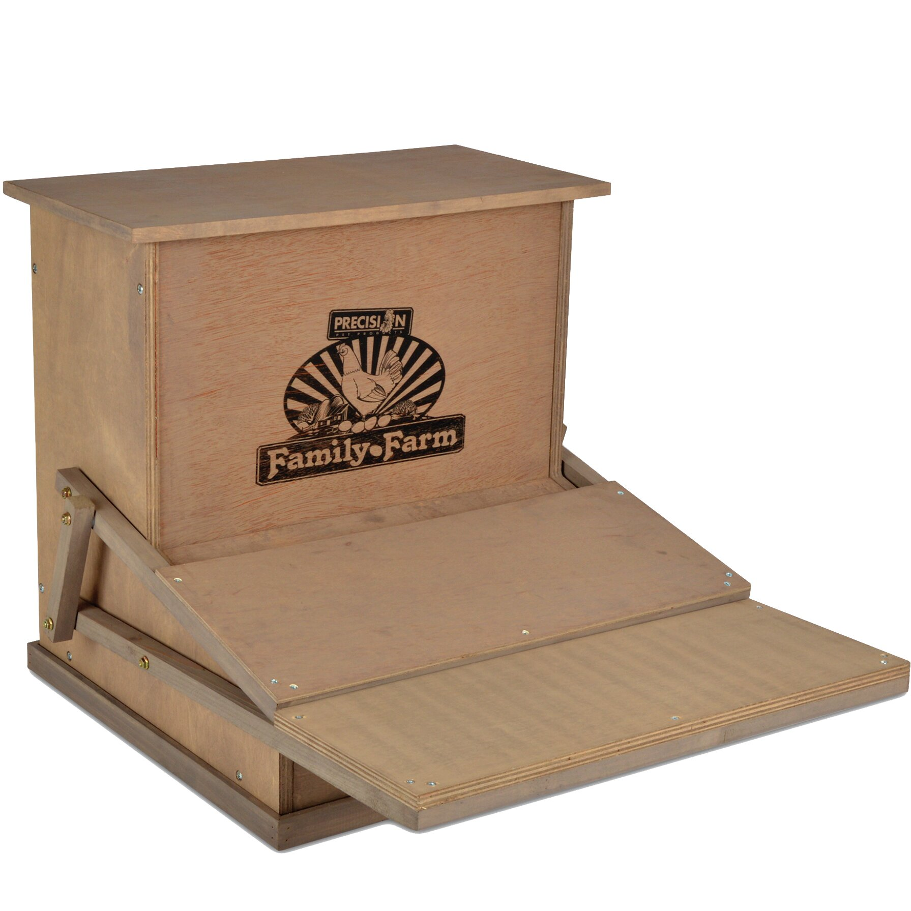 Precision Pet Wood Treadle Chicken Feeder Wayfair