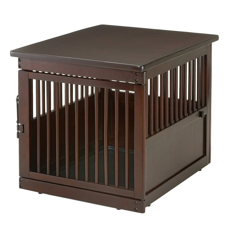 Richell wooden end table crate medium reviews wayfair for Wooden crate end table