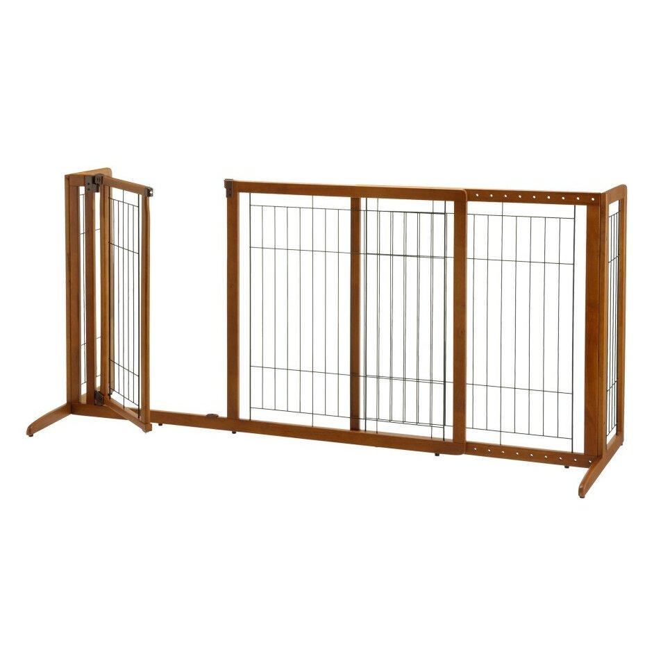 Richell Deluxe Freestanding Pet Gate With Door Amp Reviews